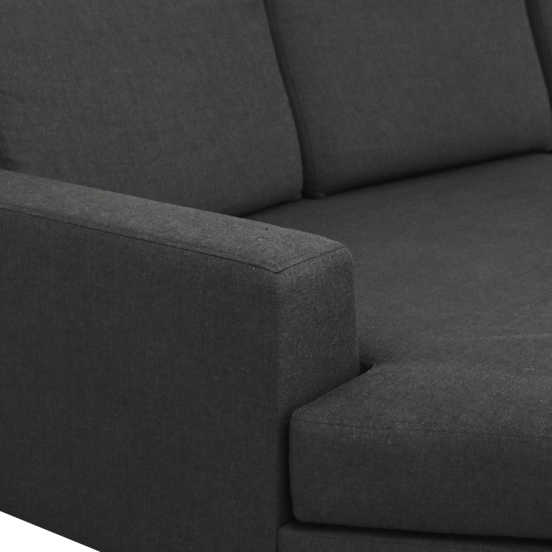 Lazzoni Lazzoni Mid Century Modern Sectional Sofa with Ottoman Sofas
