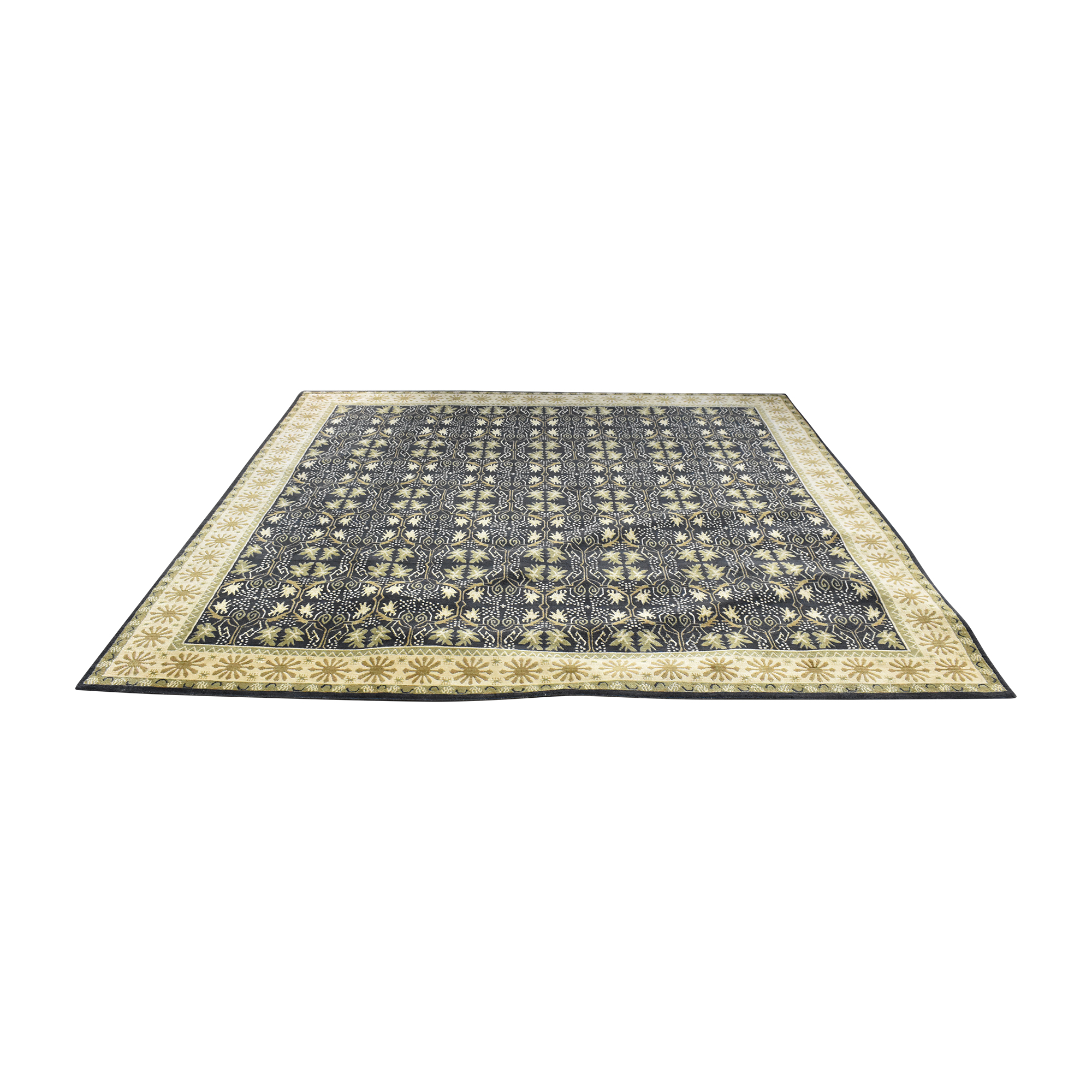 Herford Imports Herford Imports Handmade Tibetan Area Rug pa