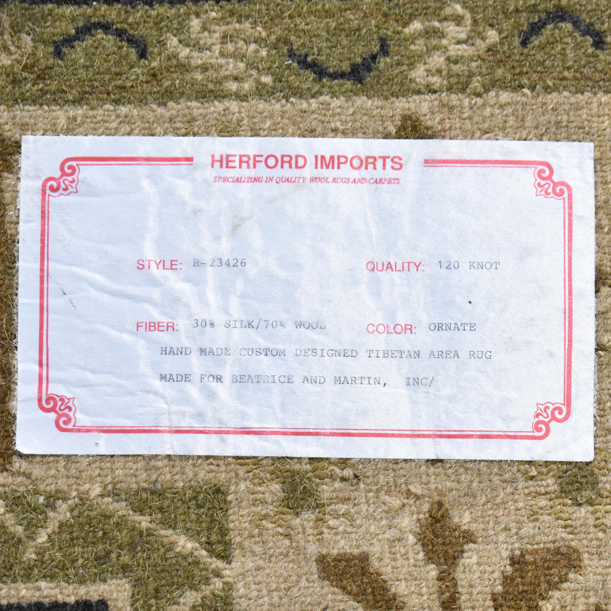 buy Herford Imports Handmade Tibetan Area Rug Herford Imports Decor