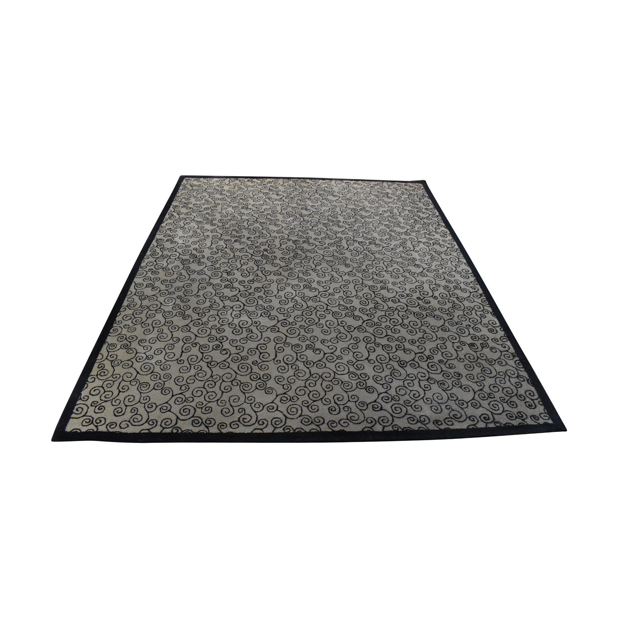 Contemporary Patterned Area Rug black & brown