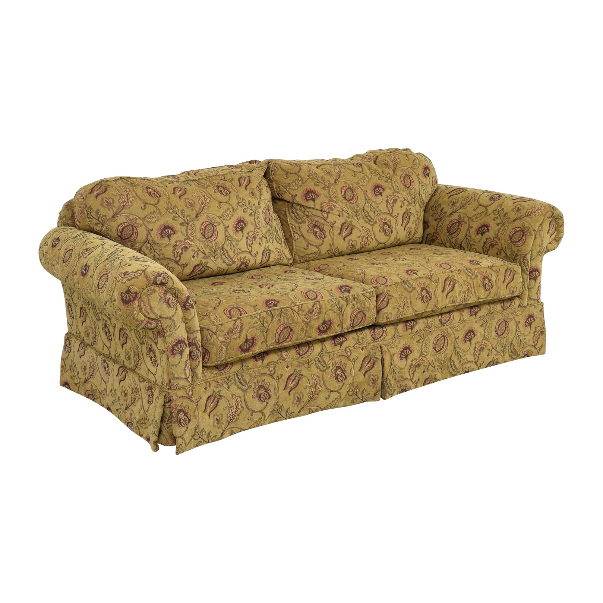 Broyhill Furniture Broyhill Furniture Two Cushion Skirted Sofa on sale