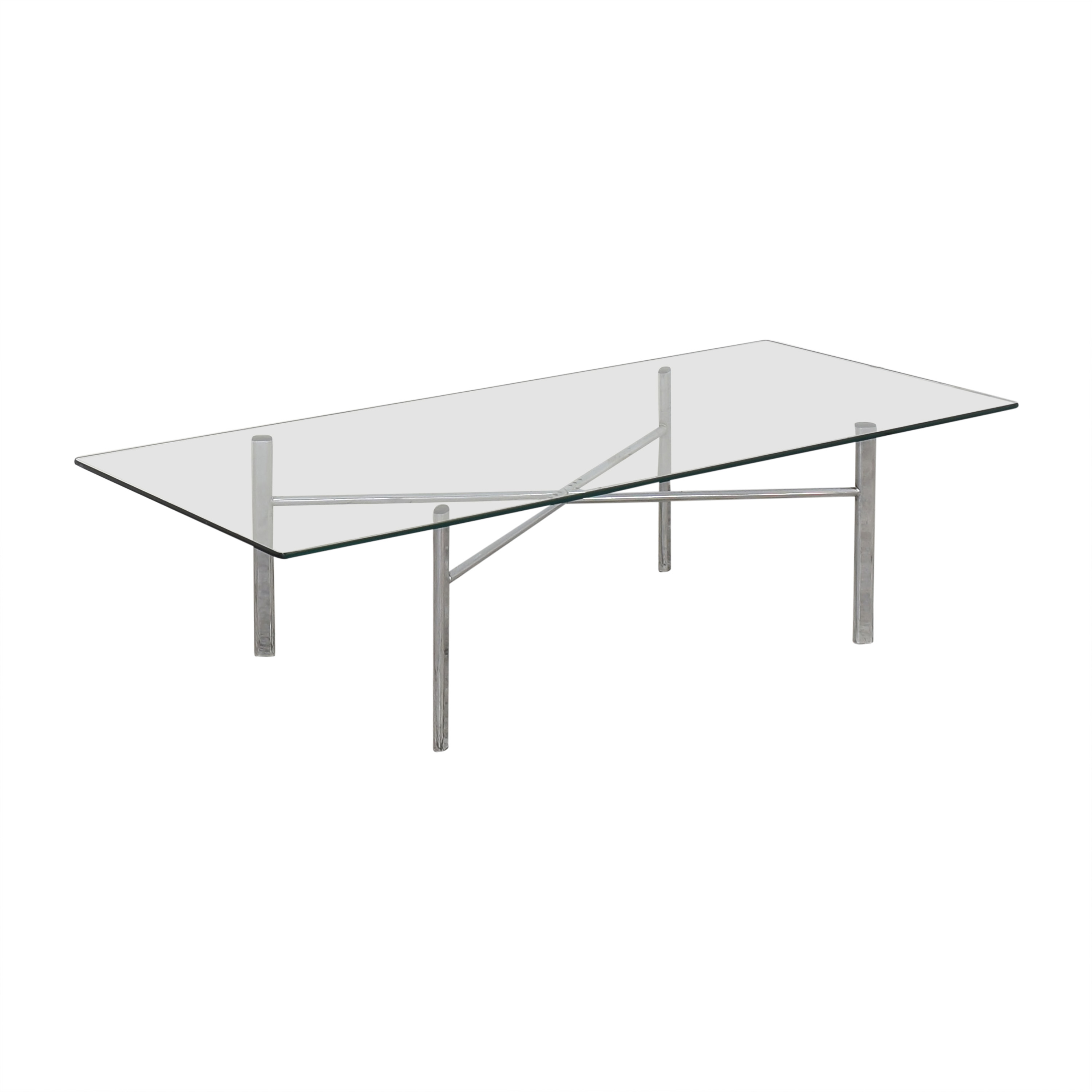 shop Custom Modern Coffee Table with Transparent Surface