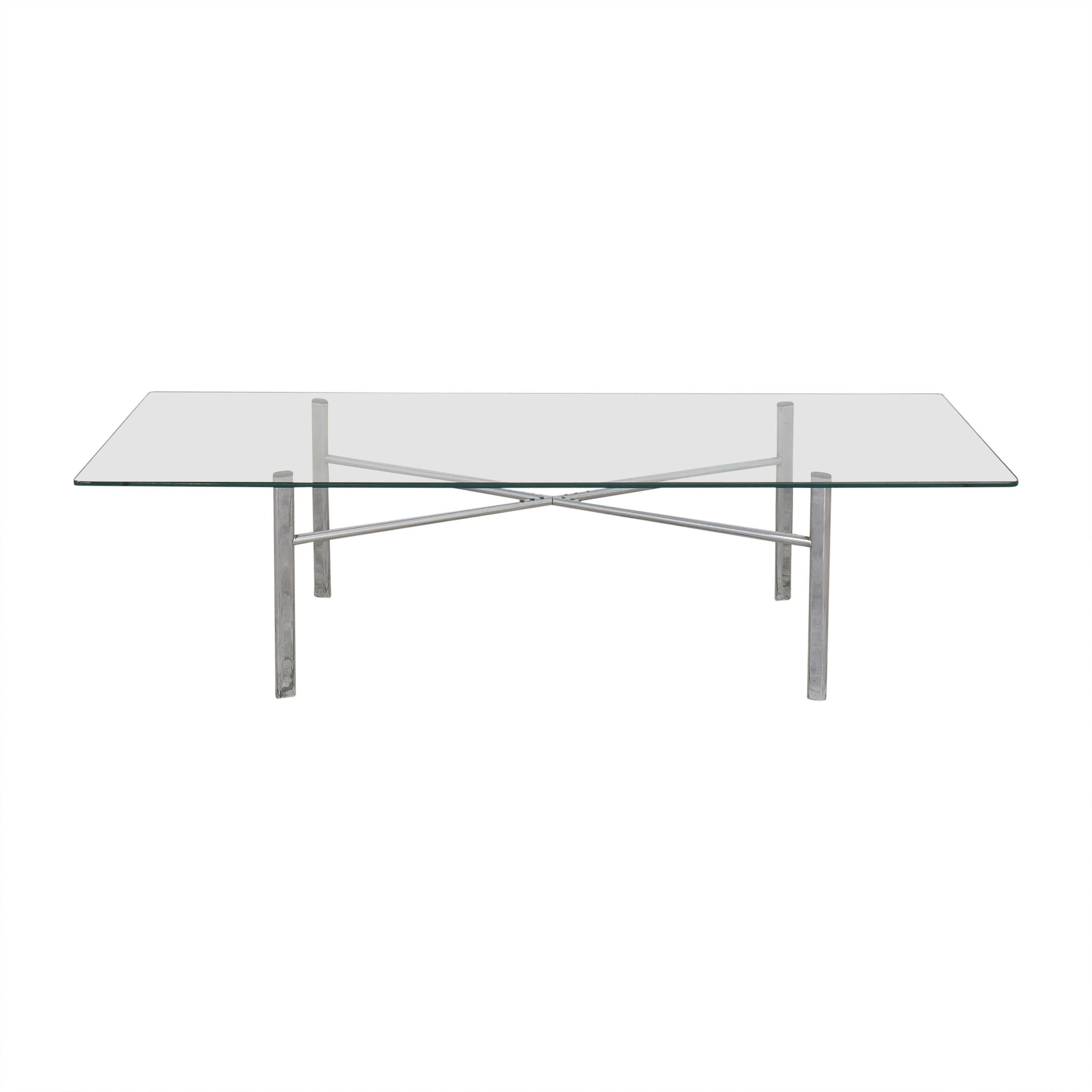 Custom Modern Coffee Table with Transparent Surface / Coffee Tables