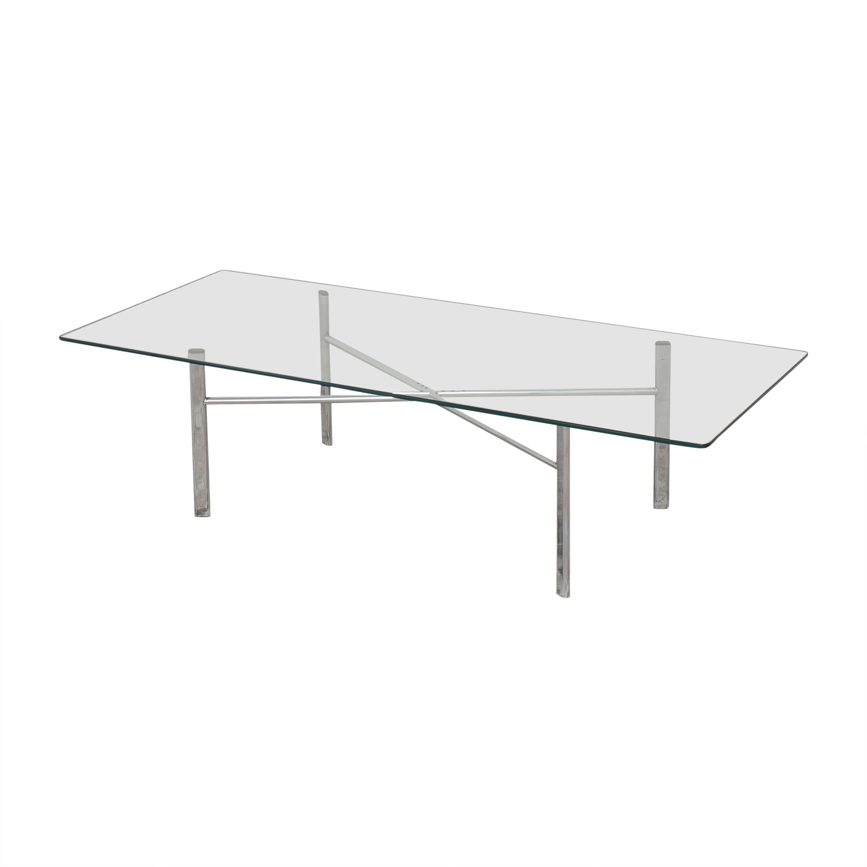 Custom Modern Coffee Table with Transparent Surface / Tables