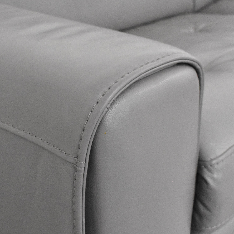 W. Schillig W. Schillig Kristina Reclining Sectional Sofa  grey