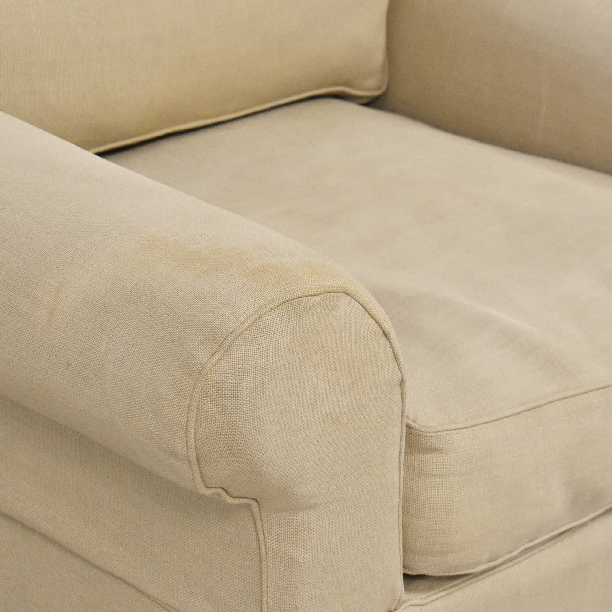 Restoration Hardware Restoration Hardware Grand-Scale Roll Arm Chair dimensions