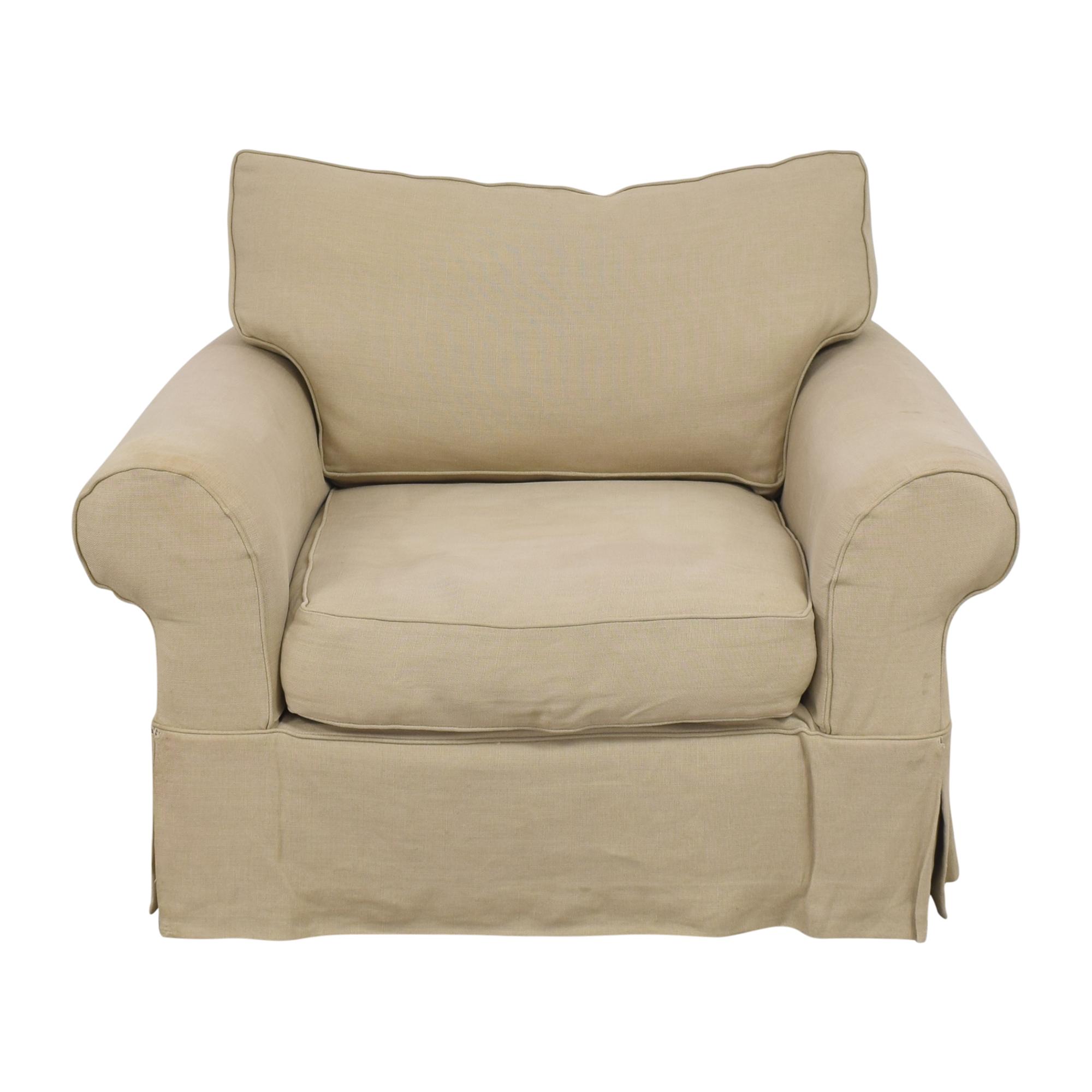 Restoration Hardware Restoration Hardware Grand-Scale Roll Arm Chair cream