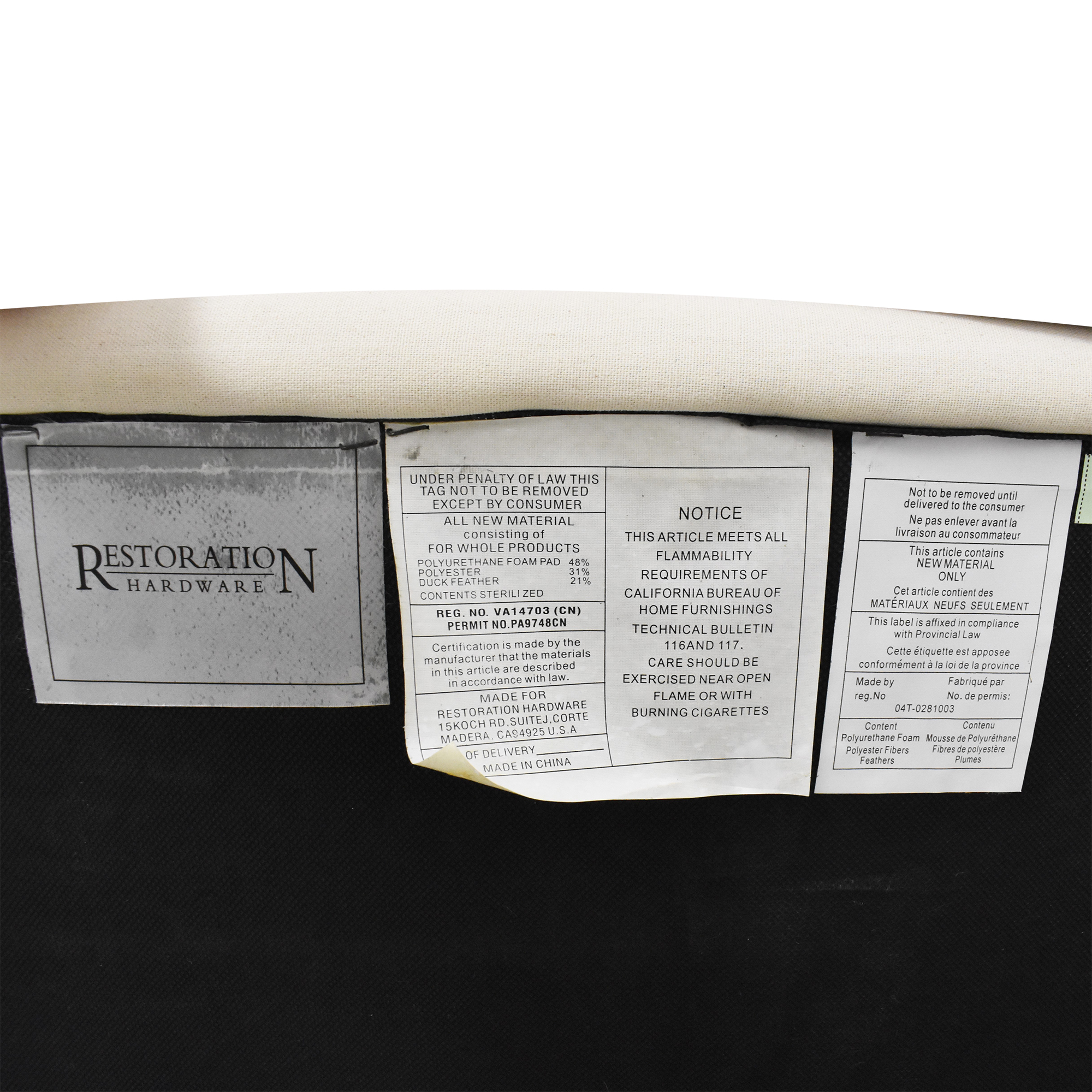 Restoration Hardware Restoration Hardware Grand-Scale Roll Arm Chair ma