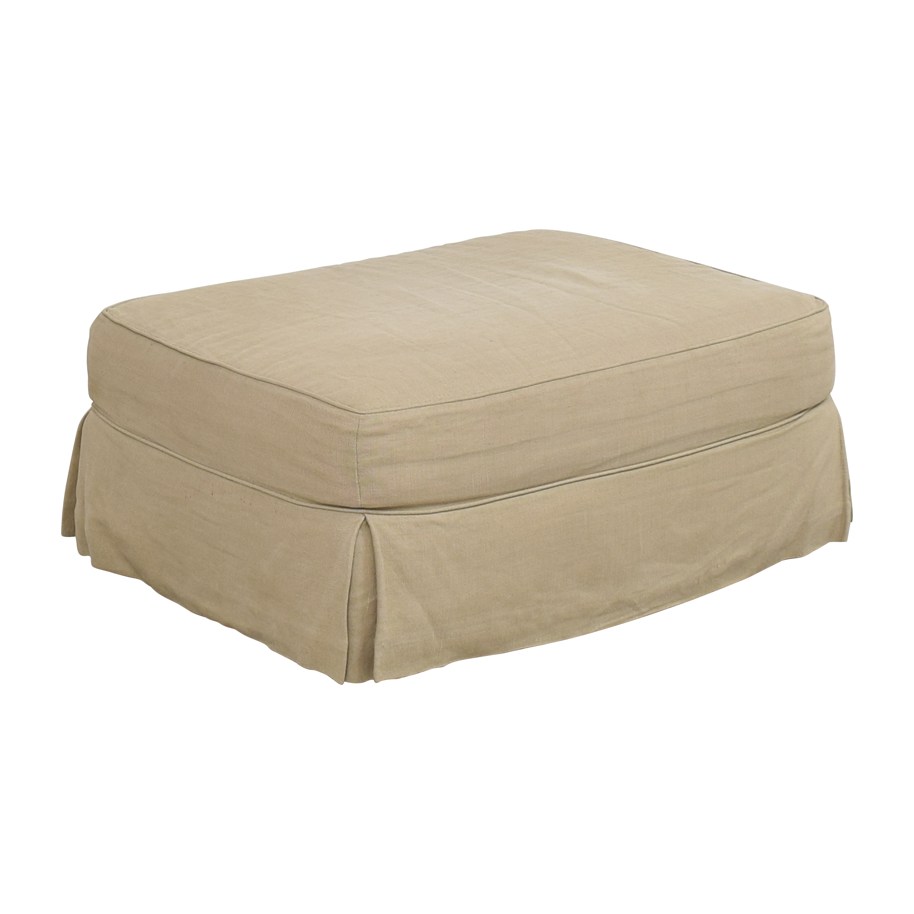Restoration Hardware Restoration Hardware Grand Scale Roll Arm Slipcovered Ottoman coupon