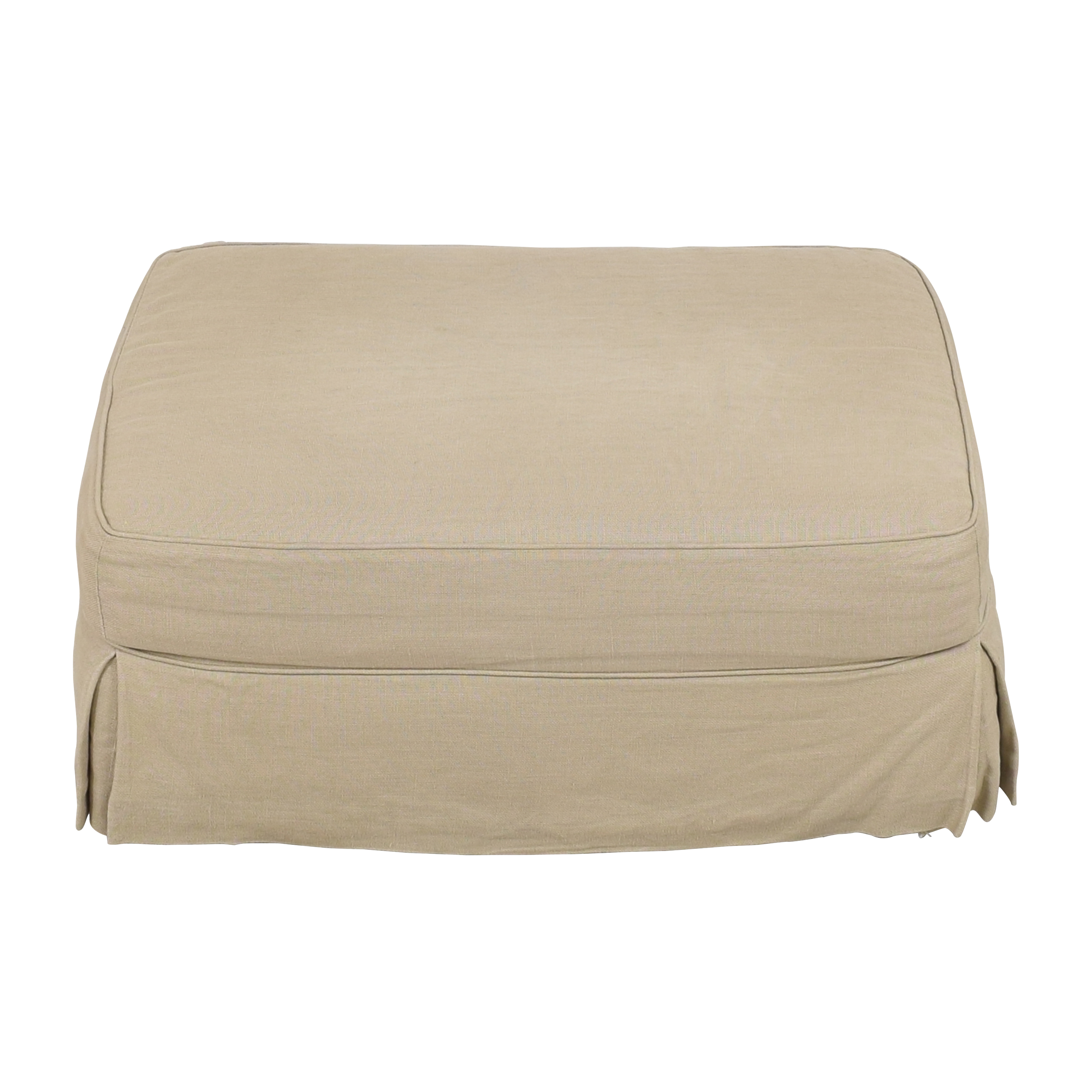 Restoration Hardware Restoration Hardware Grand Scale Roll Arm Slipcovered Ottoman pa