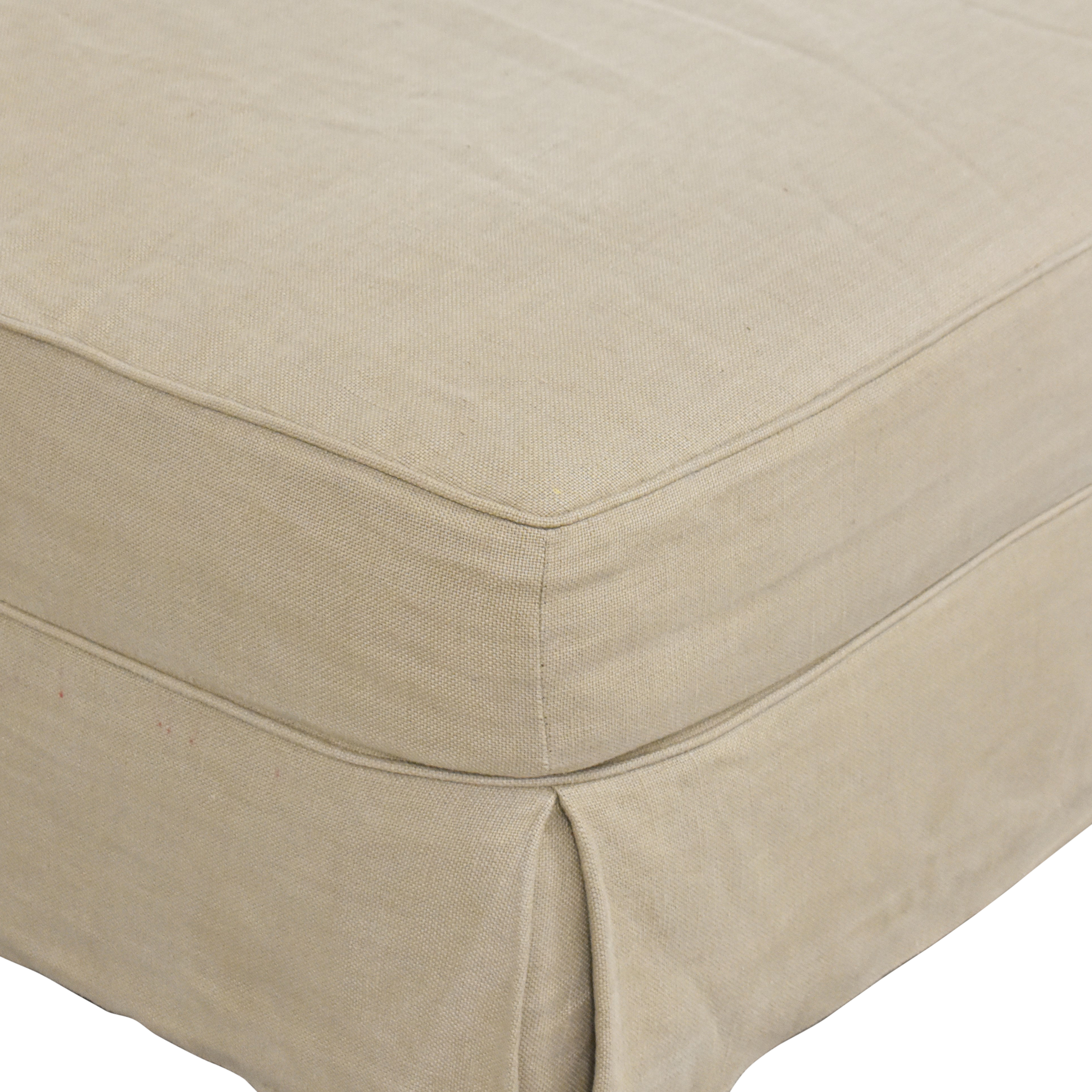 Restoration Hardware Restoration Hardware Grand Scale Roll Arm Slipcovered Ottoman used
