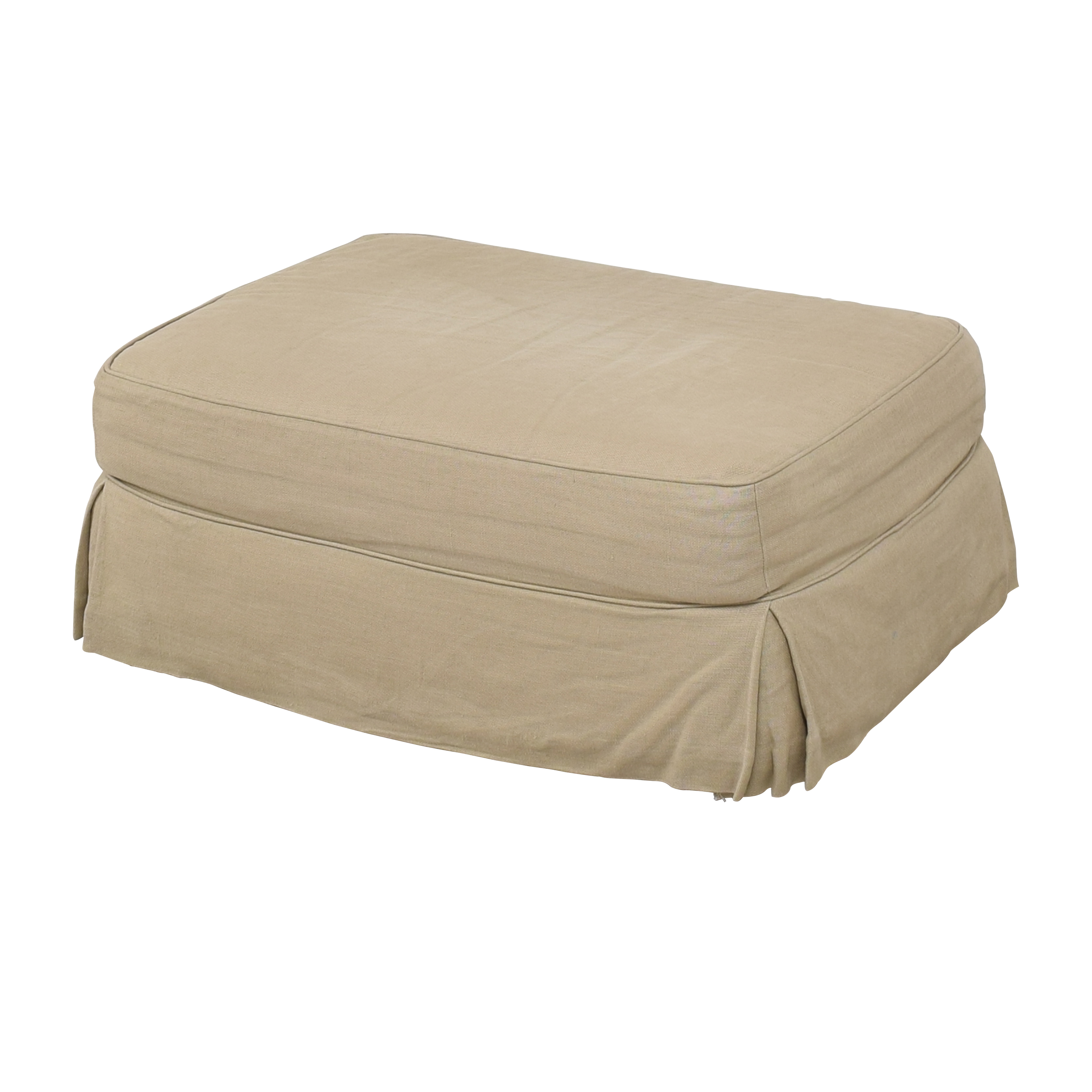 Restoration Hardware Restoration Hardware Grand Scale Roll Arm Slipcovered Ottoman dimensions