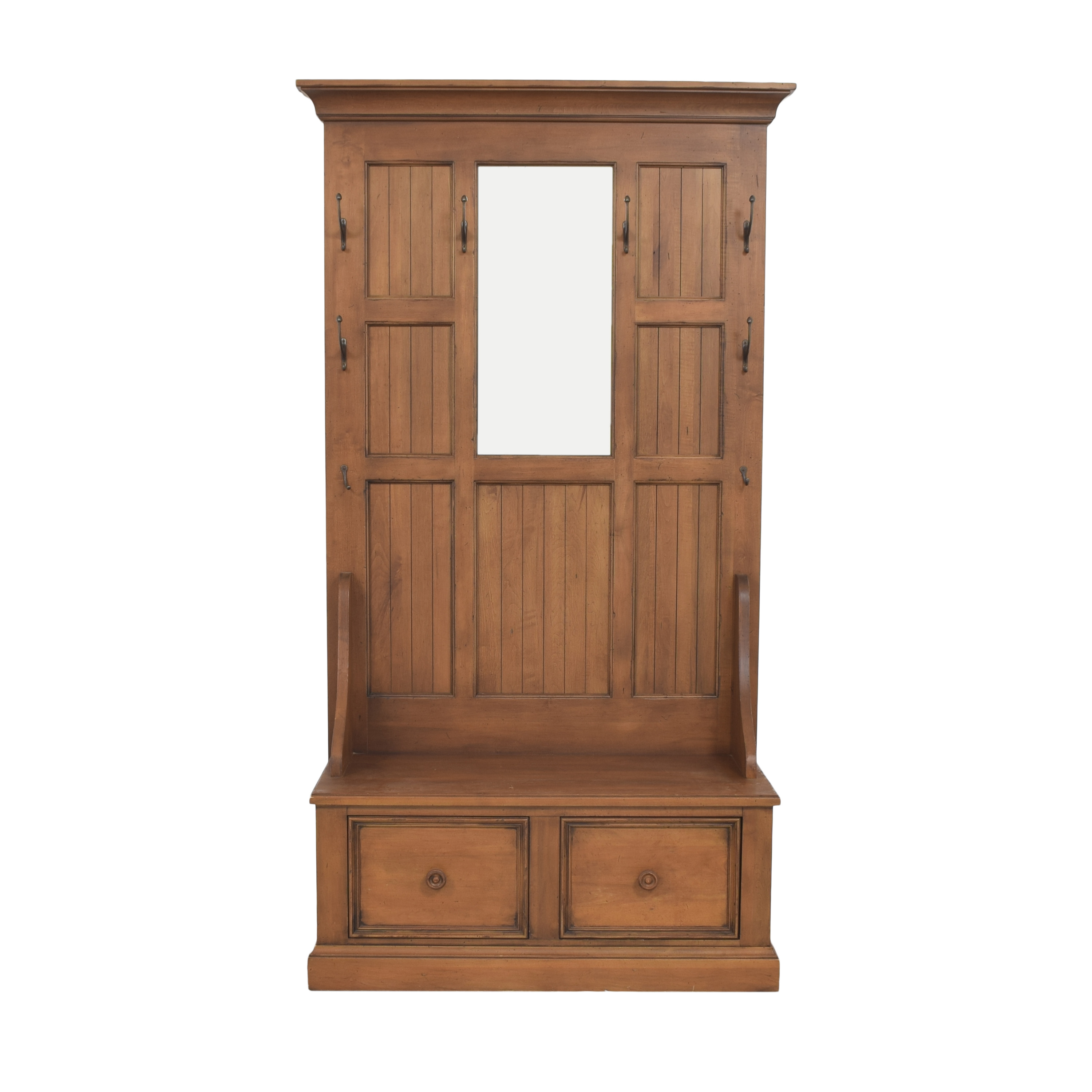 Ethan Allen New Country Logan Entryway Hall Tree / Storage