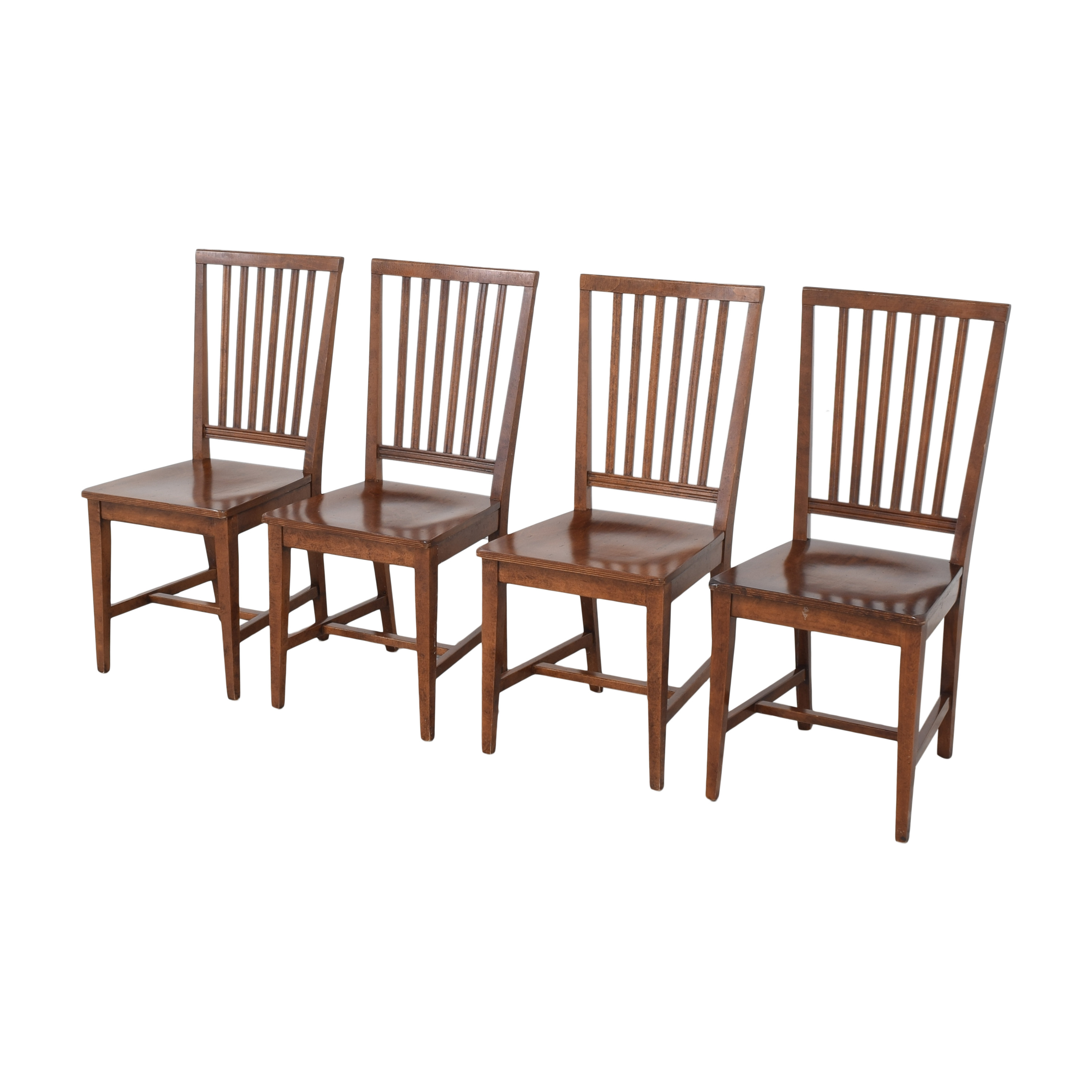 Crate & Barrel Village Nero Noche Dining Chairs sale