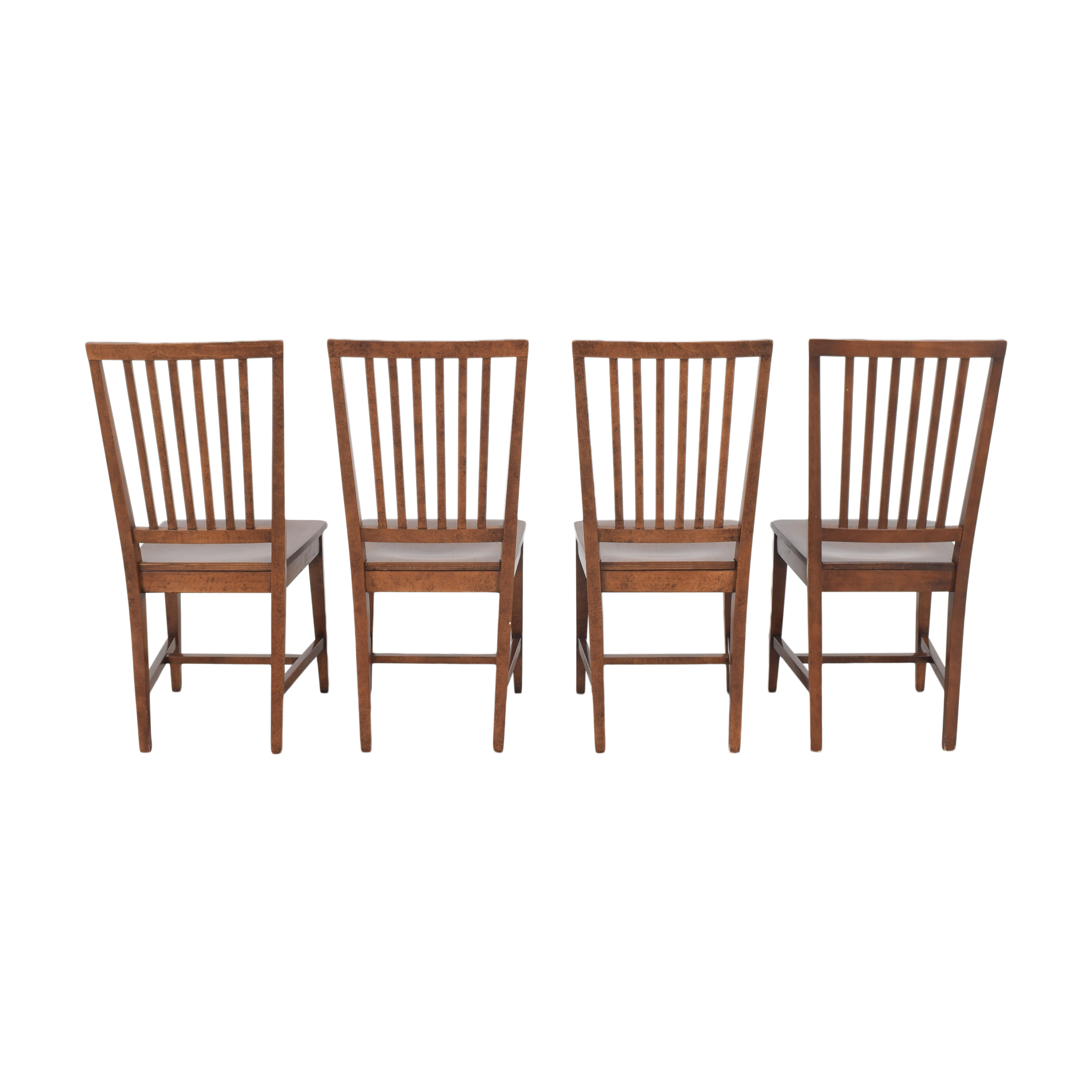 buy Crate & Barrel Village Nero Noche Dining Chairs Crate & Barrel