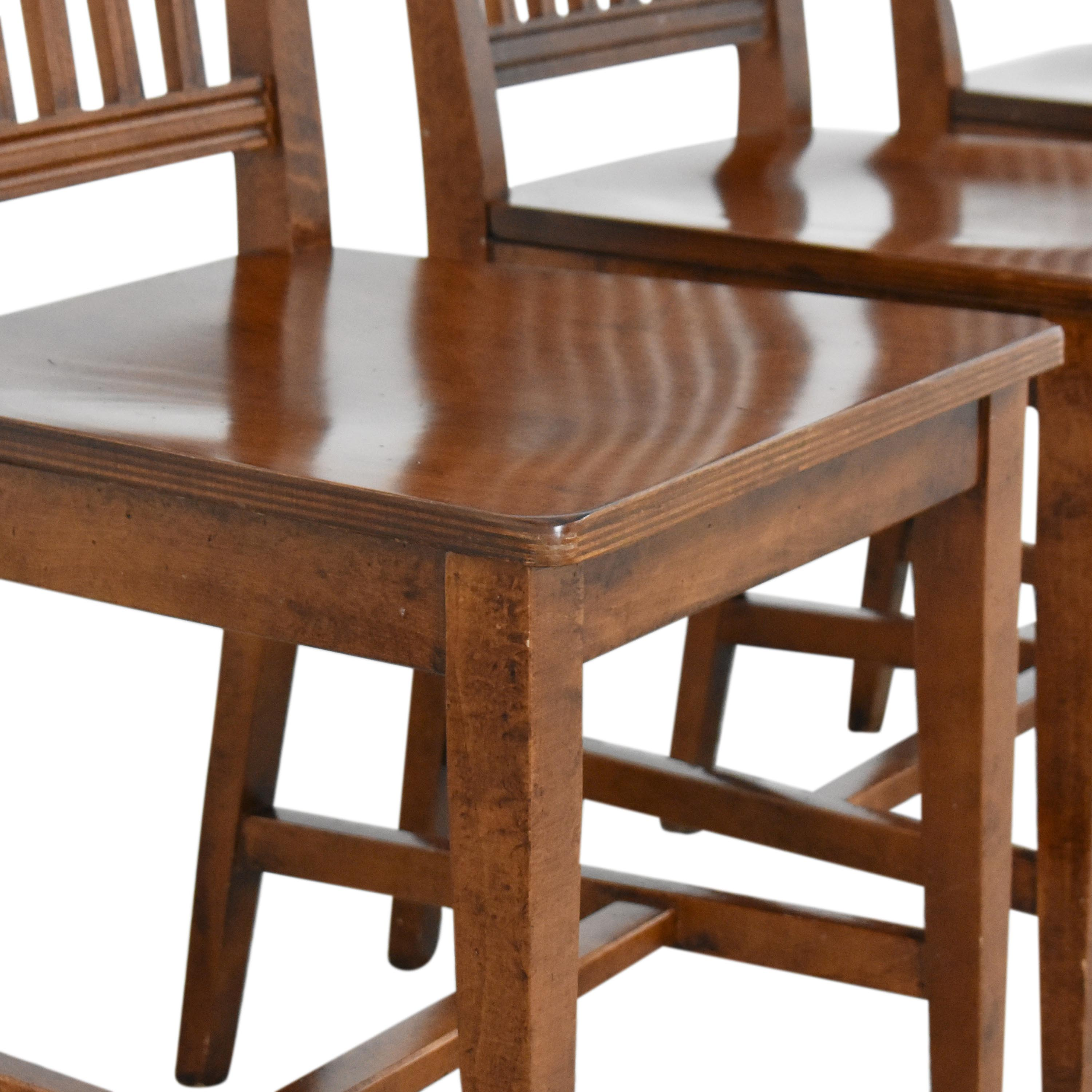 Crate & Barrel Crate & Barrel Village Nero Noche Dining Chairs brown