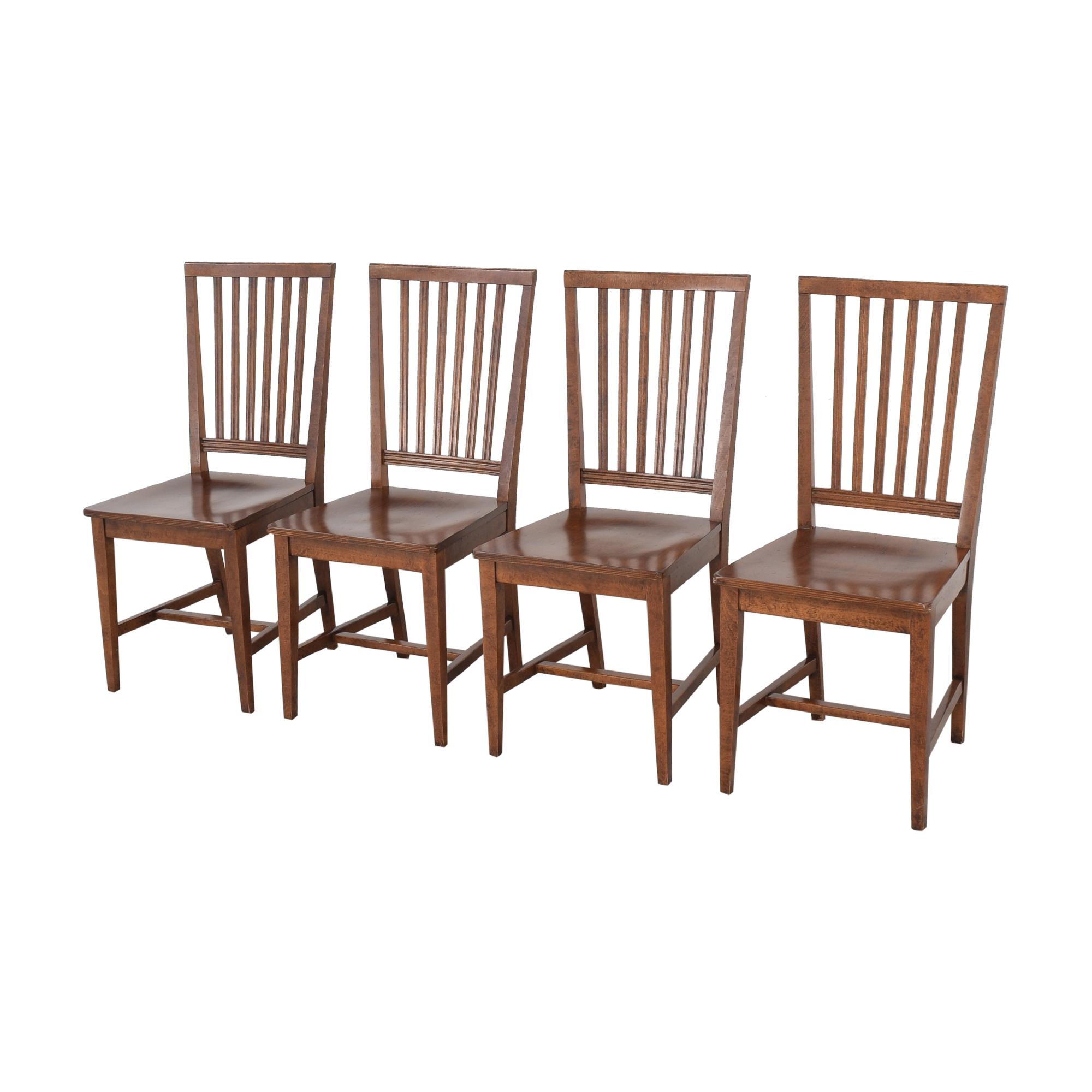 Crate & Barrel Crate & Barrel Village Nero Noche Dining Chairs discount