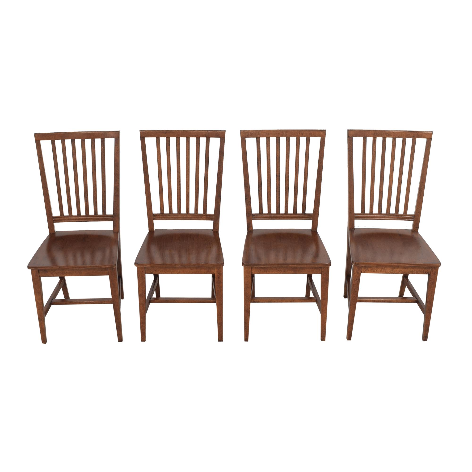 shop Crate & Barrel Crate & Barrel Village Nero Noche Dining Chairs online