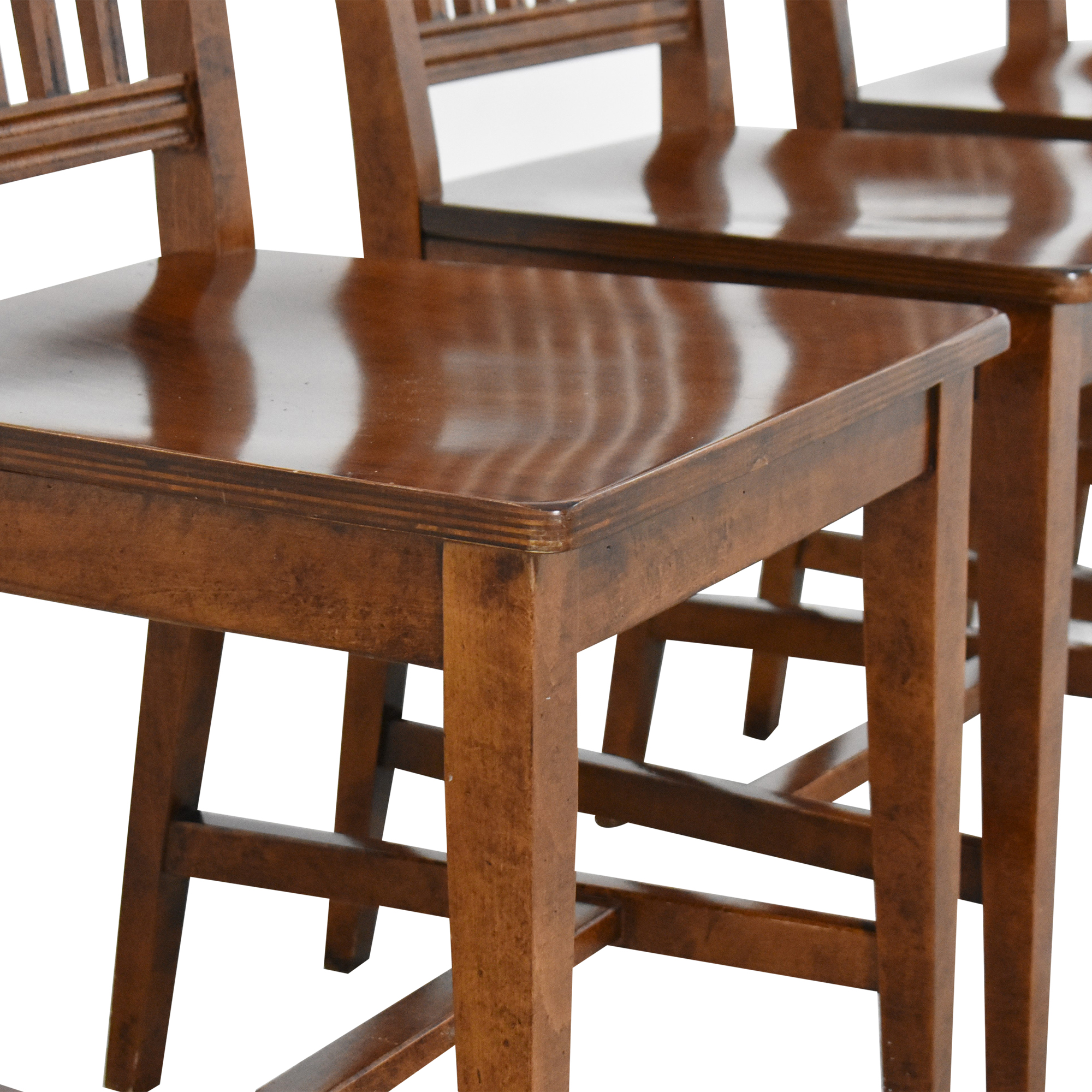 Crate & Barrel Crate & Barrel Village Nero Noche Dining Chairs used