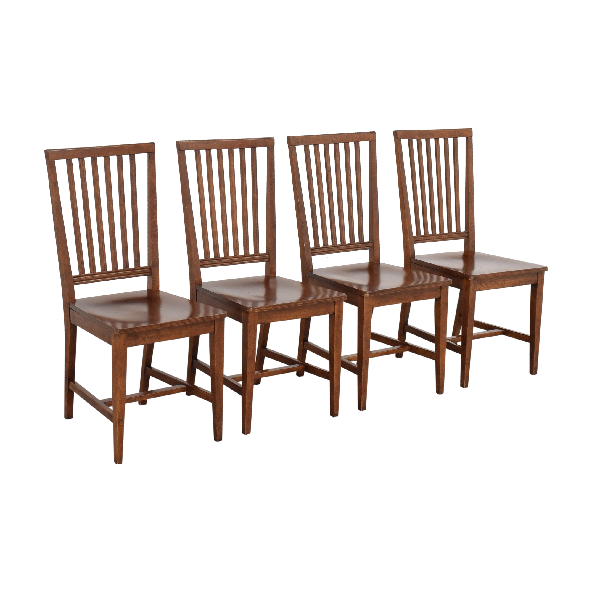Crate & Barrel Crate & Barrel Village Nero Noche Dining Chairs on sale