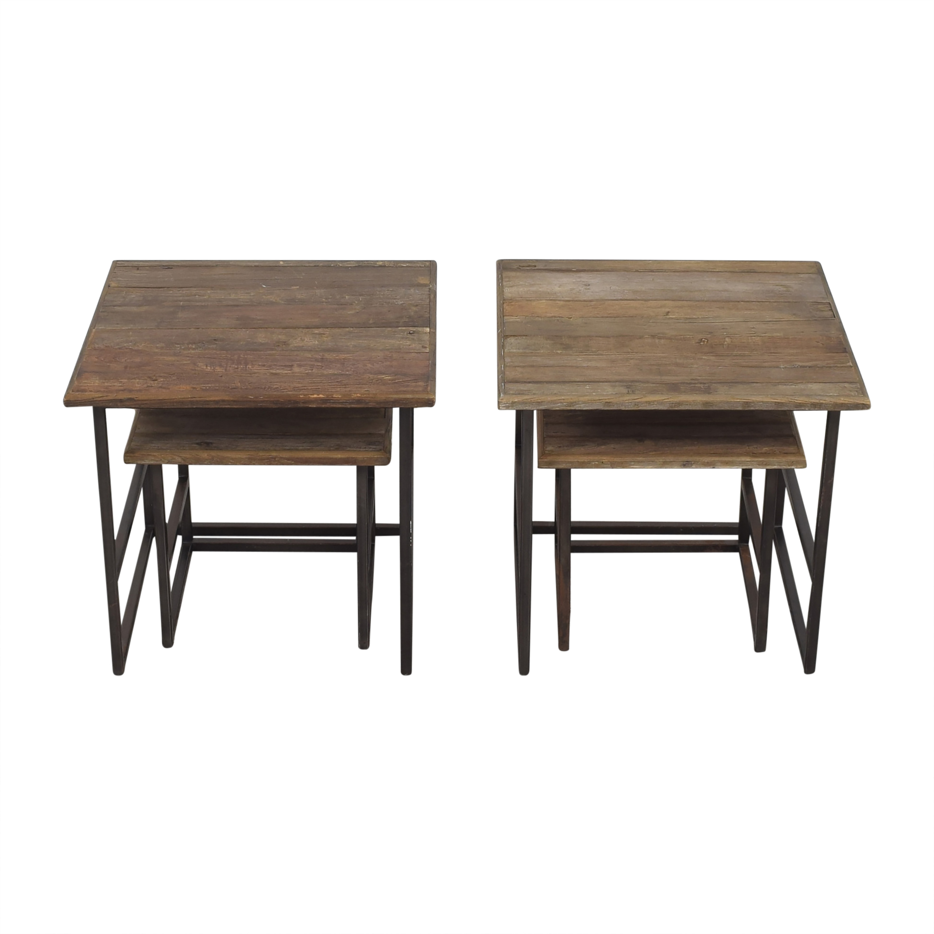 Restoration Hardware Restoration Hardware Rustic Nesting Side Tables End Tables