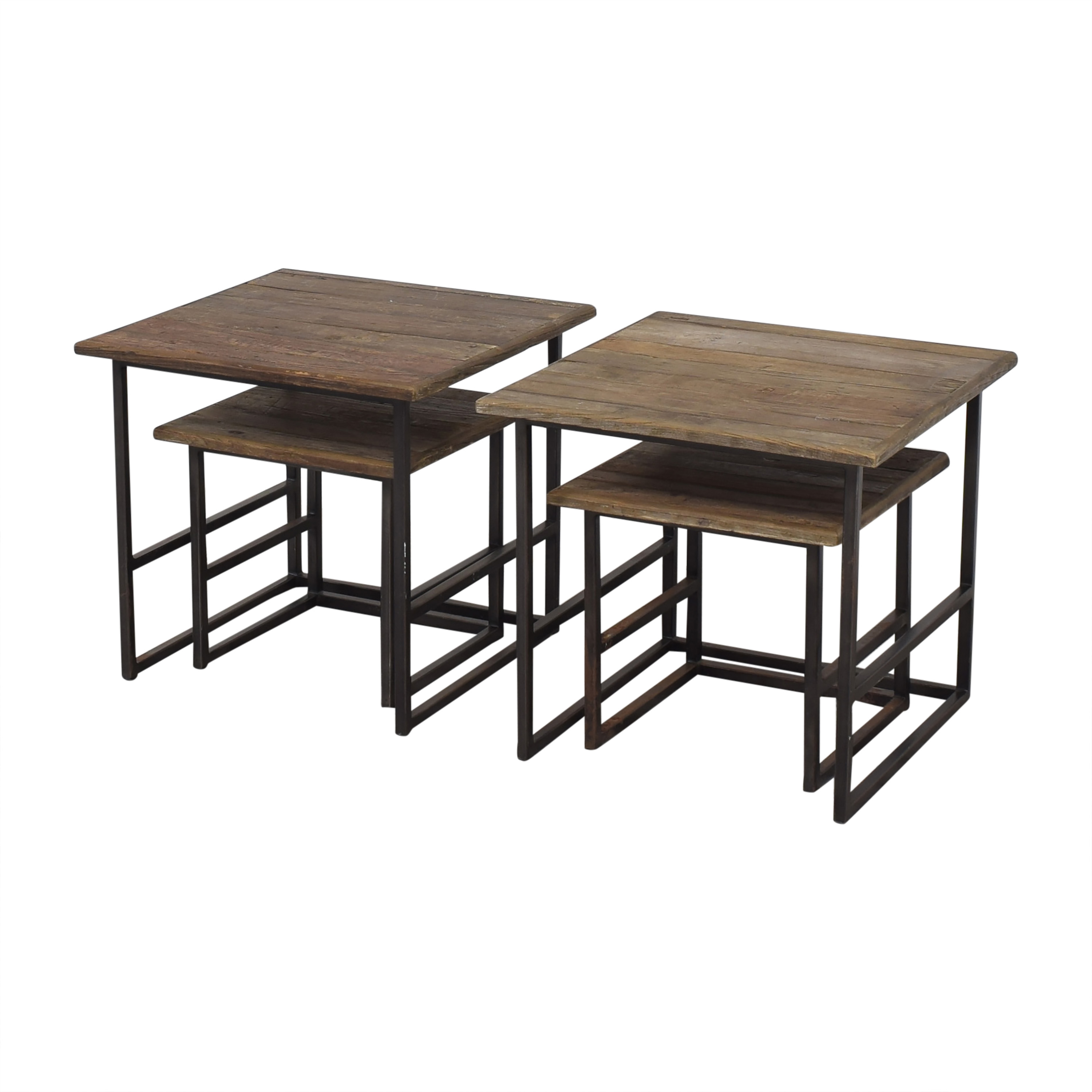 Restoration Hardware Restoration Hardware Rustic Nesting Side Tables pa