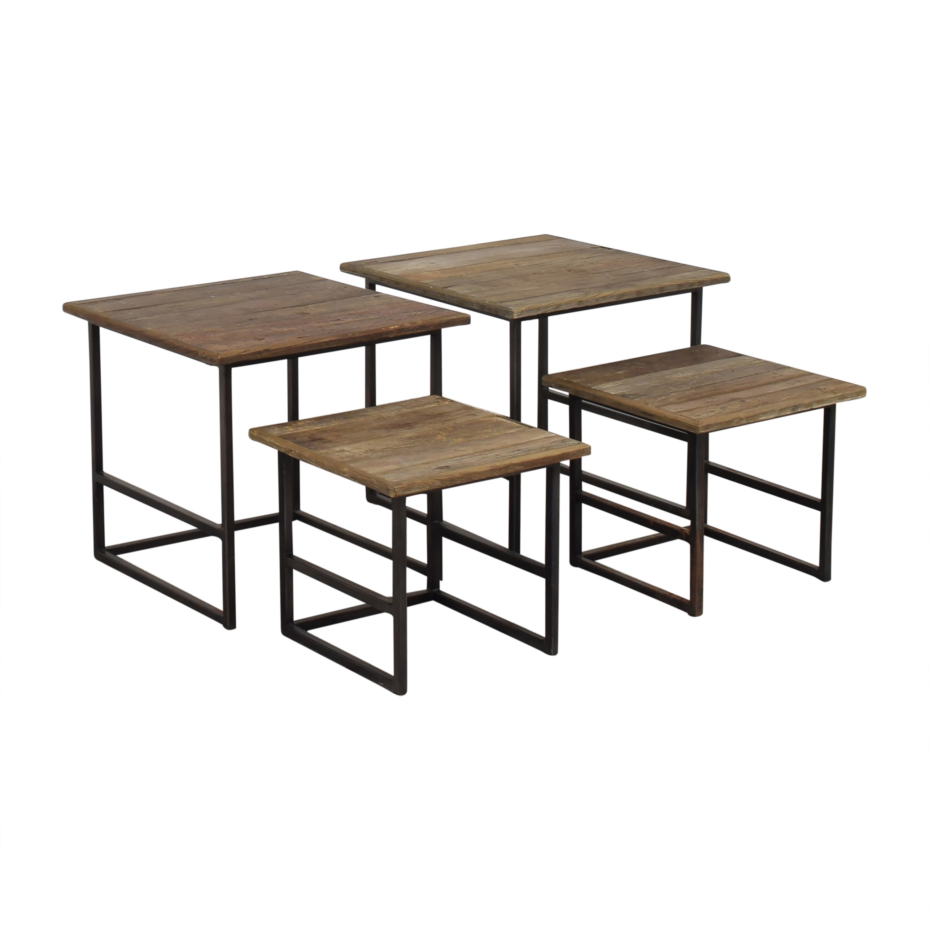 Restoration Hardware Restoration Hardware Rustic Nesting Side Tables nyc
