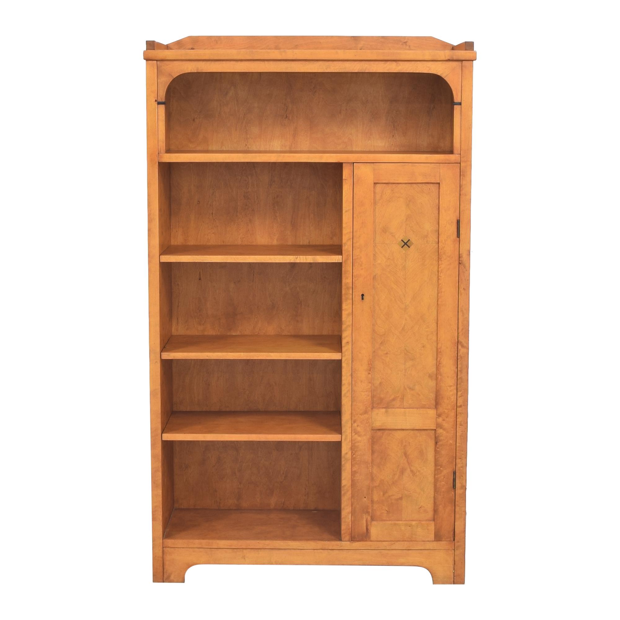 Biedermeier Biedermeier Vintage Bookcase with Cabinet brown