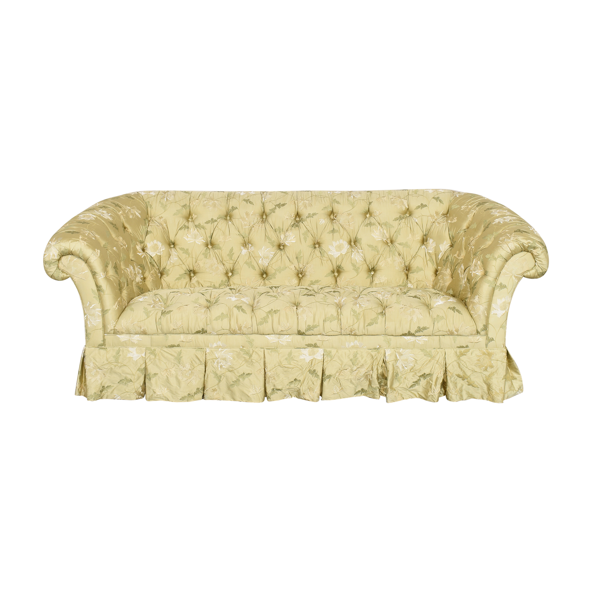 Lillian August Chesterfield Floral Sofa sale