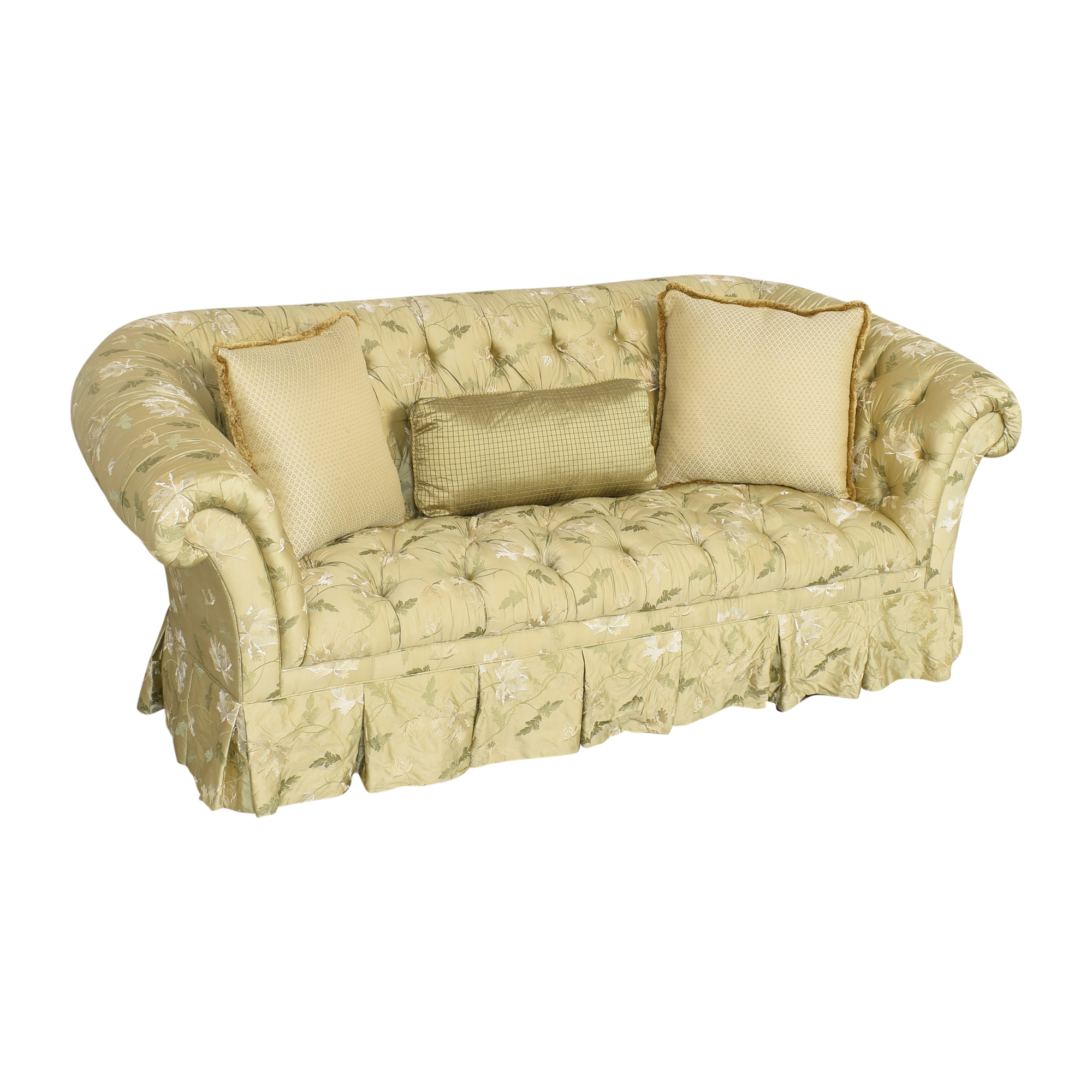 Lillian August Lillian August Chesterfield Floral Sofa pa