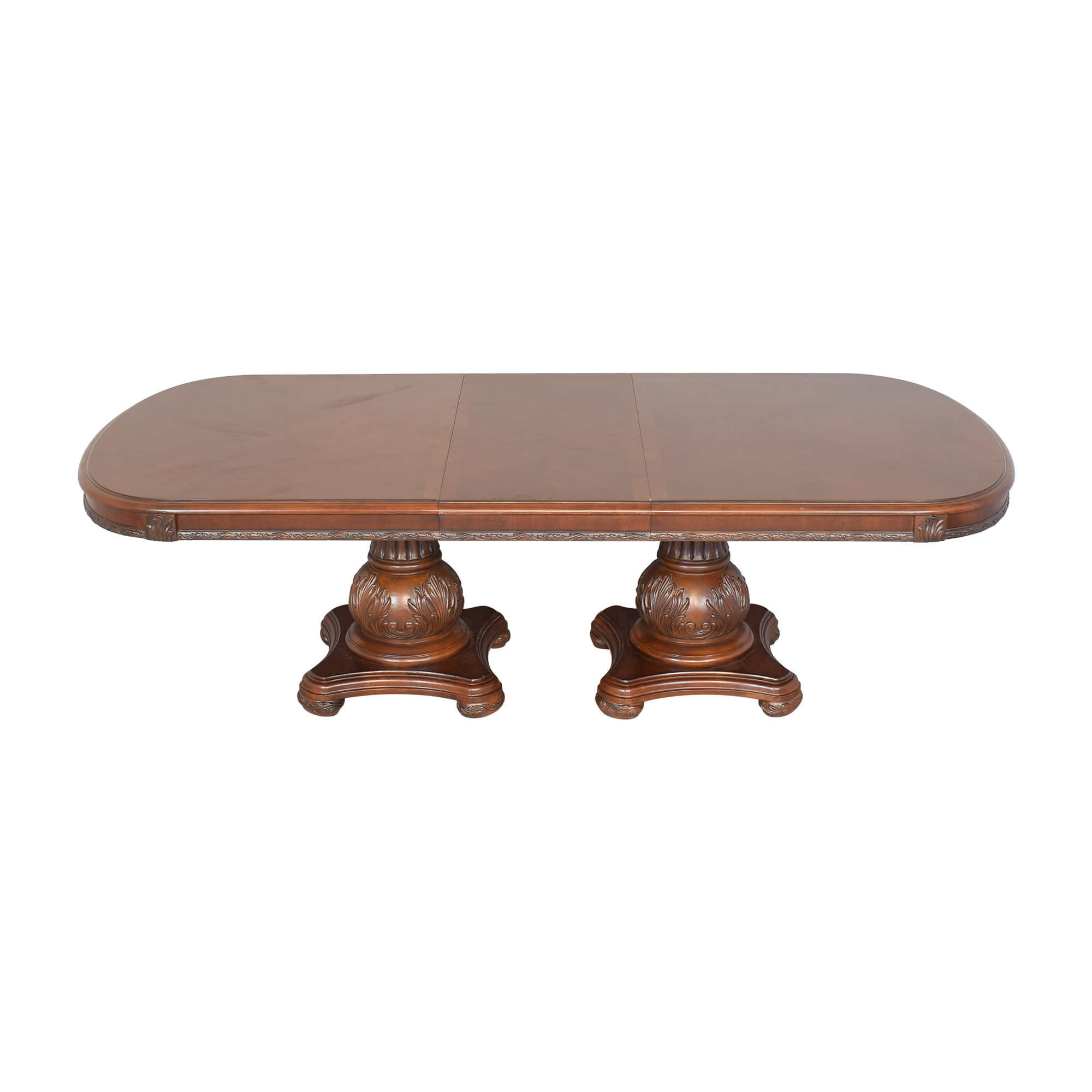 American Drew American Drew Double Pedestal Extendable Dining Room Table nyc