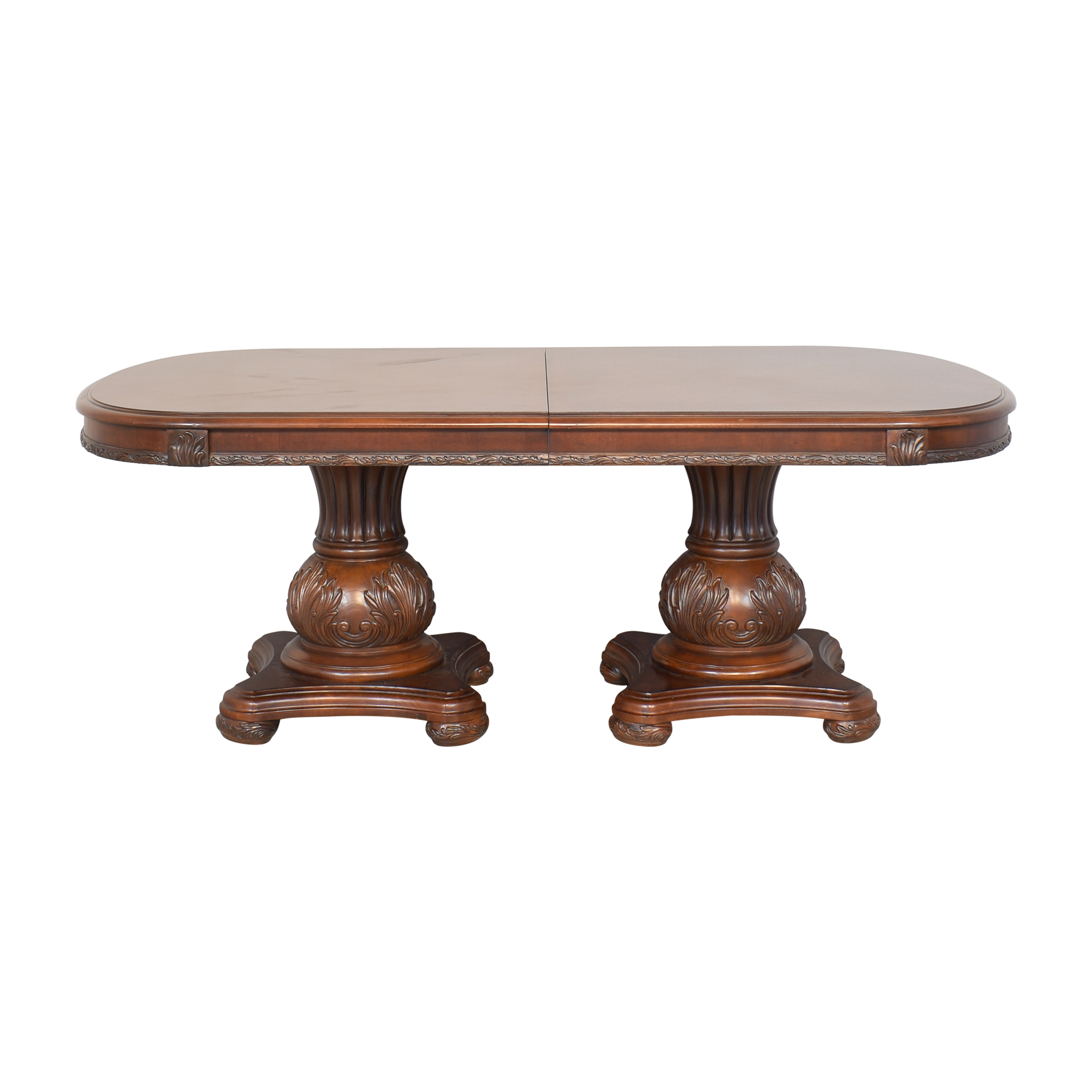 American Drew American Drew Double Pedestal Extendable Dining Room Table ma