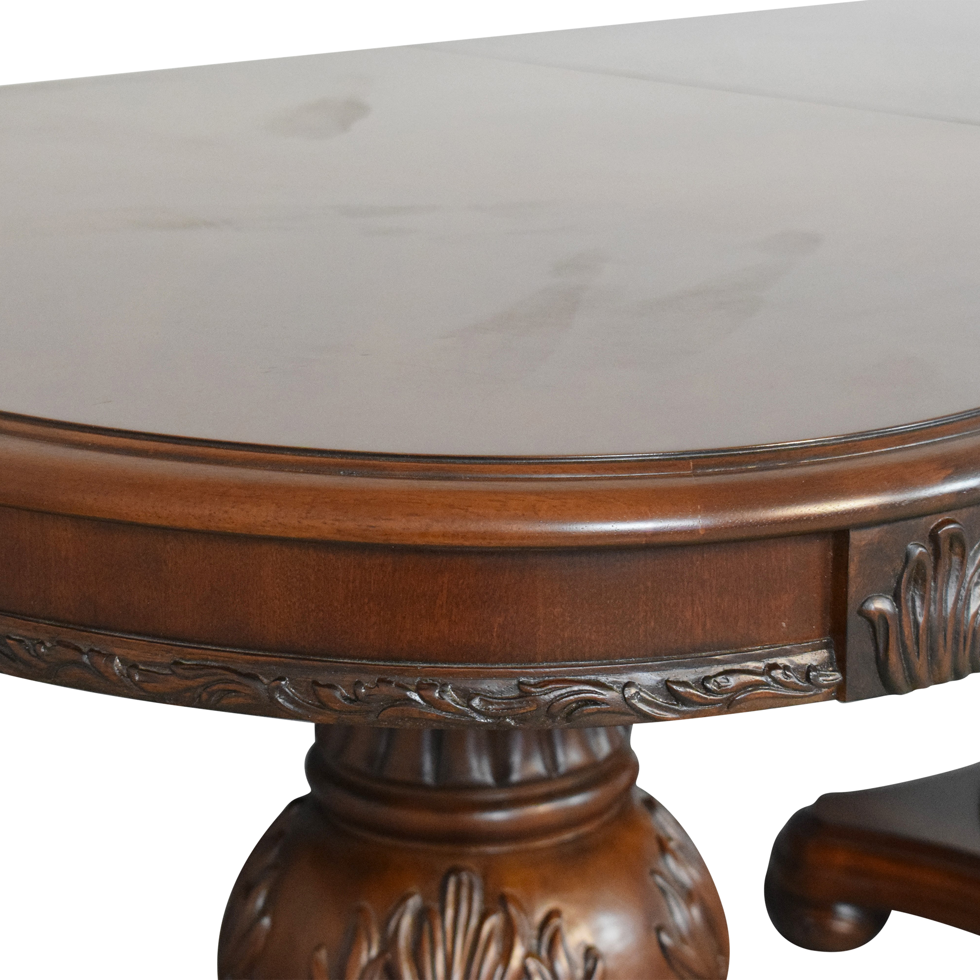 American Drew Double Pedestal Extendable Dining Room Table sale