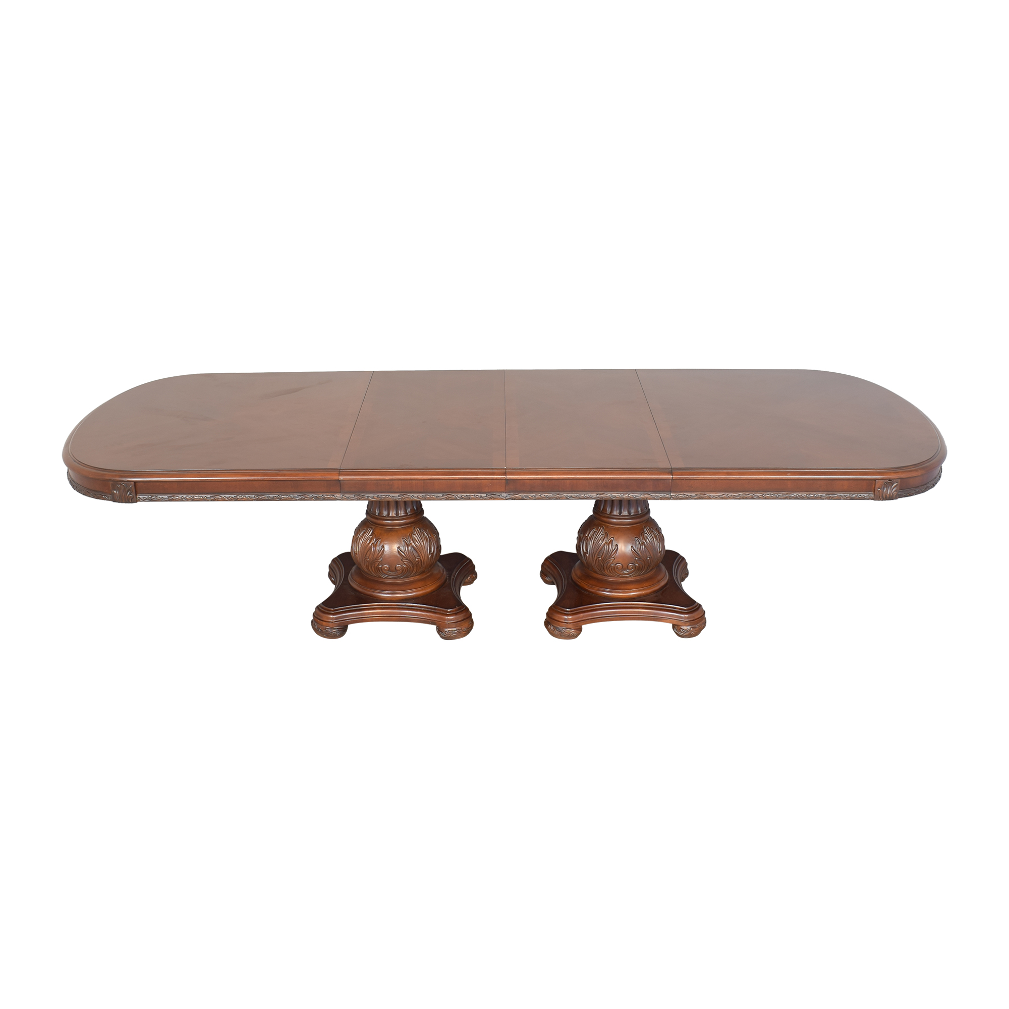 American Drew Double Pedestal Extendable Dining Room Table American Drew