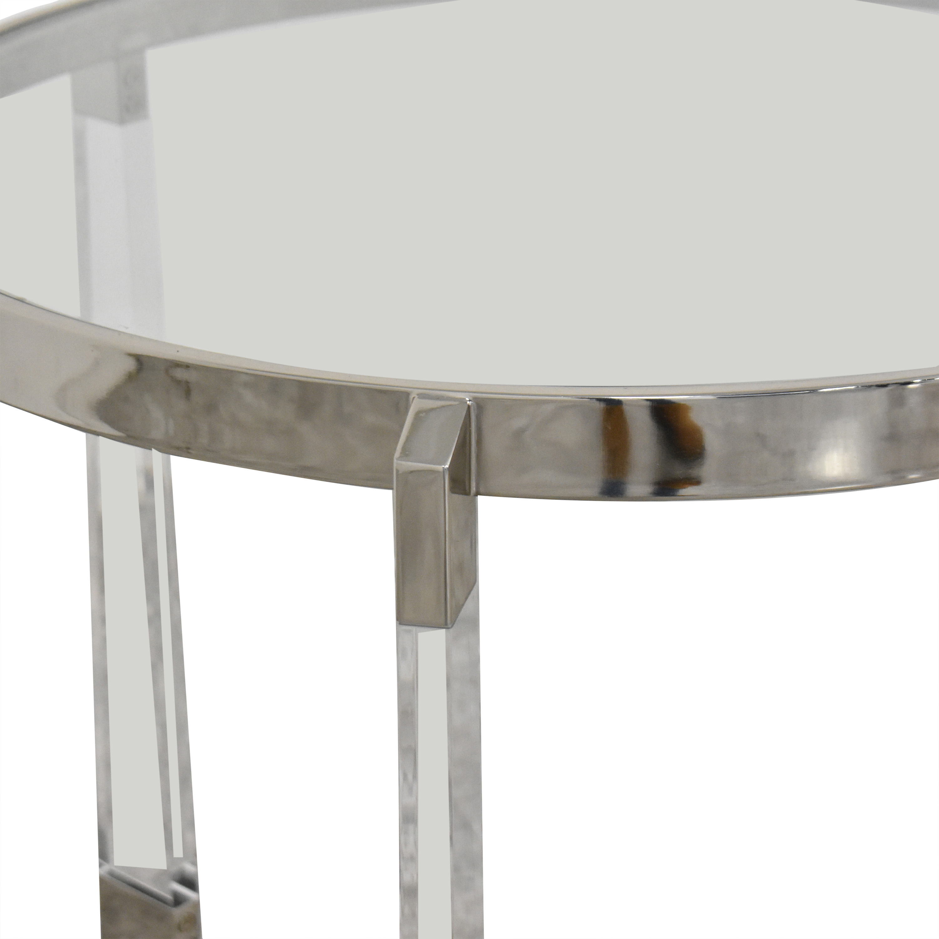 Round Side Table with Transparent Surface coupon
