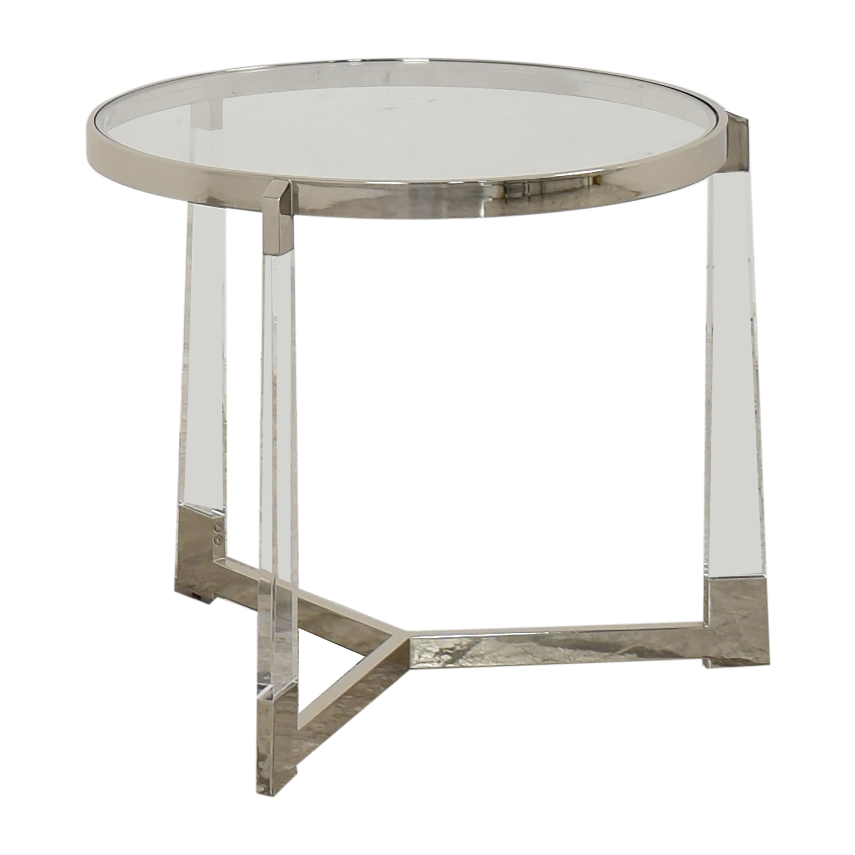 shop Round Side Table with Transparent Surface  Tables