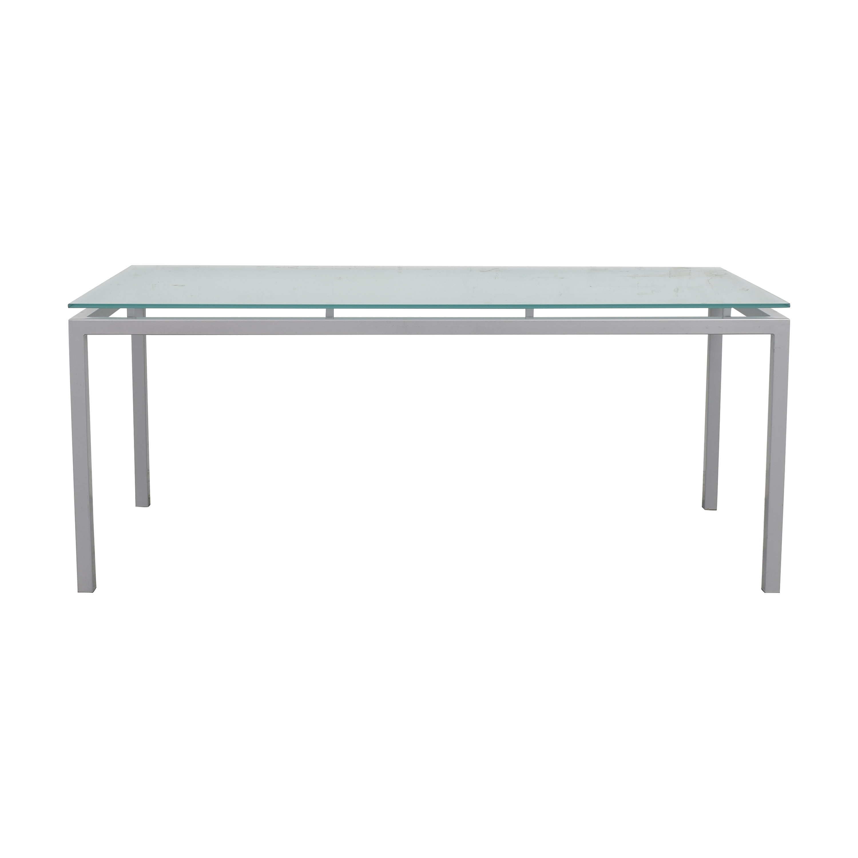 buy Room & Board Dining Table with Floating Frosted Surface Room & Board