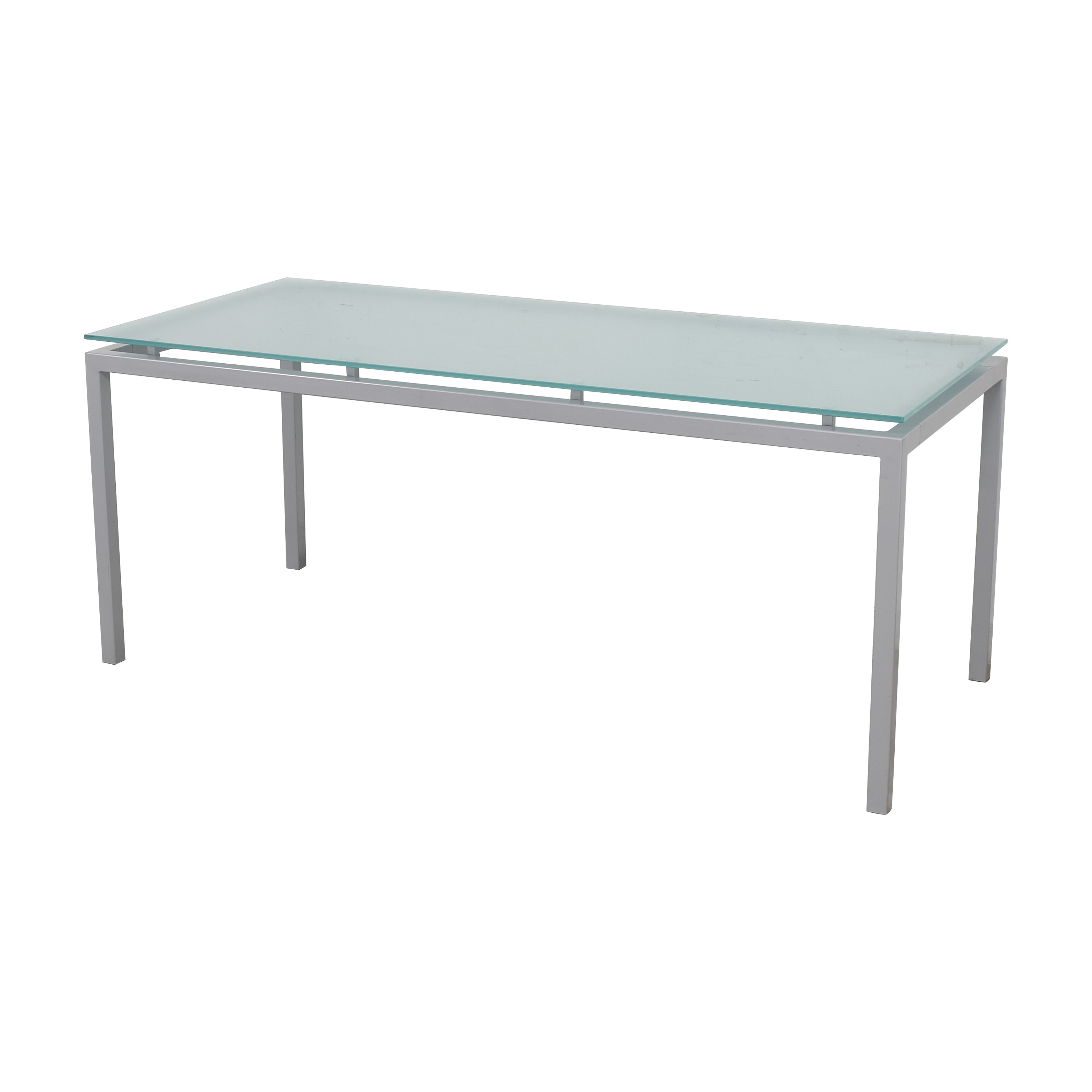 Room & Board Room & Board Dining Table with Floating Frosted Surface Tables