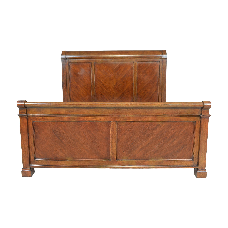 Bassett Furniture Bassett Furniture King Sleigh Panel Bed Bed Frames