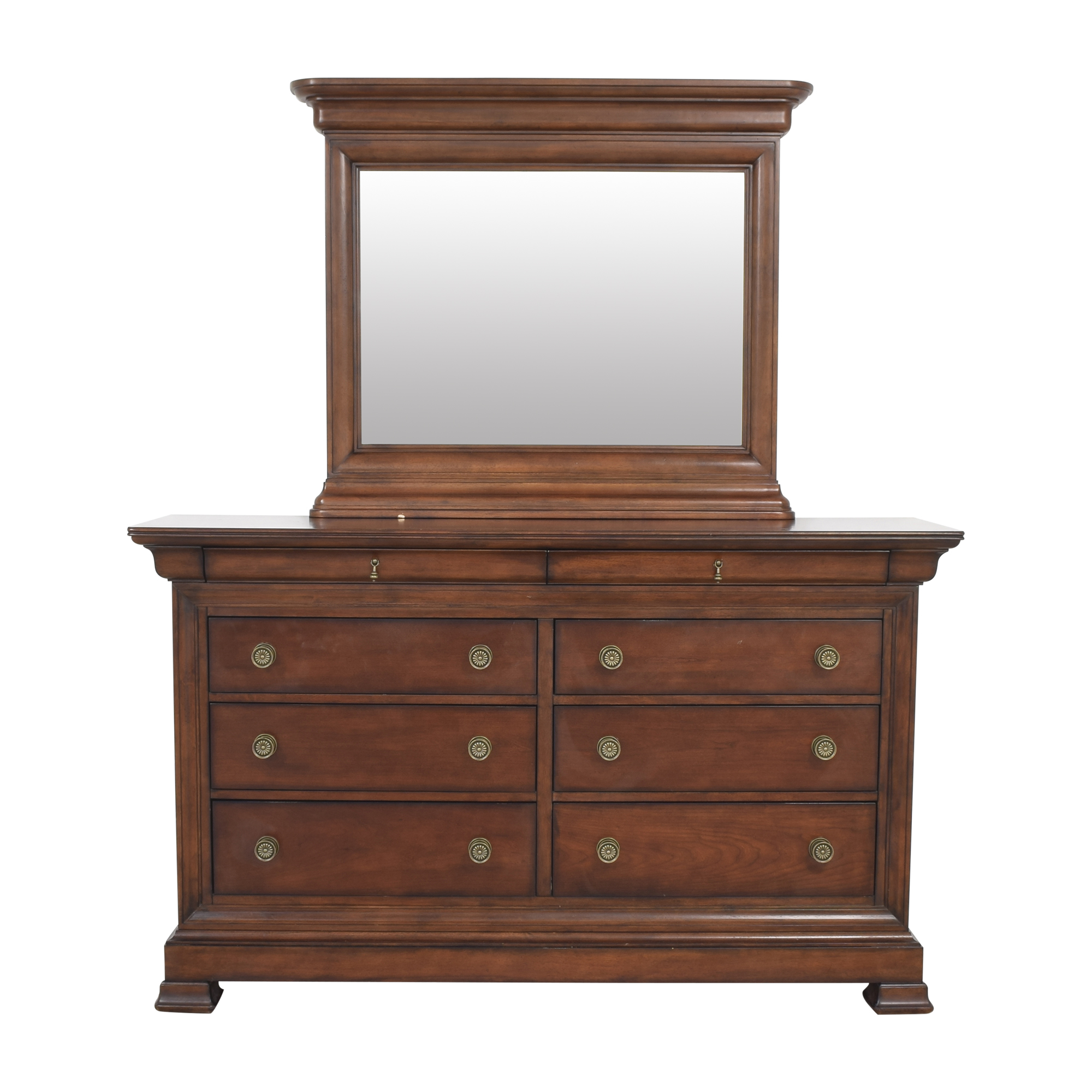 Bassett Furniture Eight Drawer Dresser with Mirror sale
