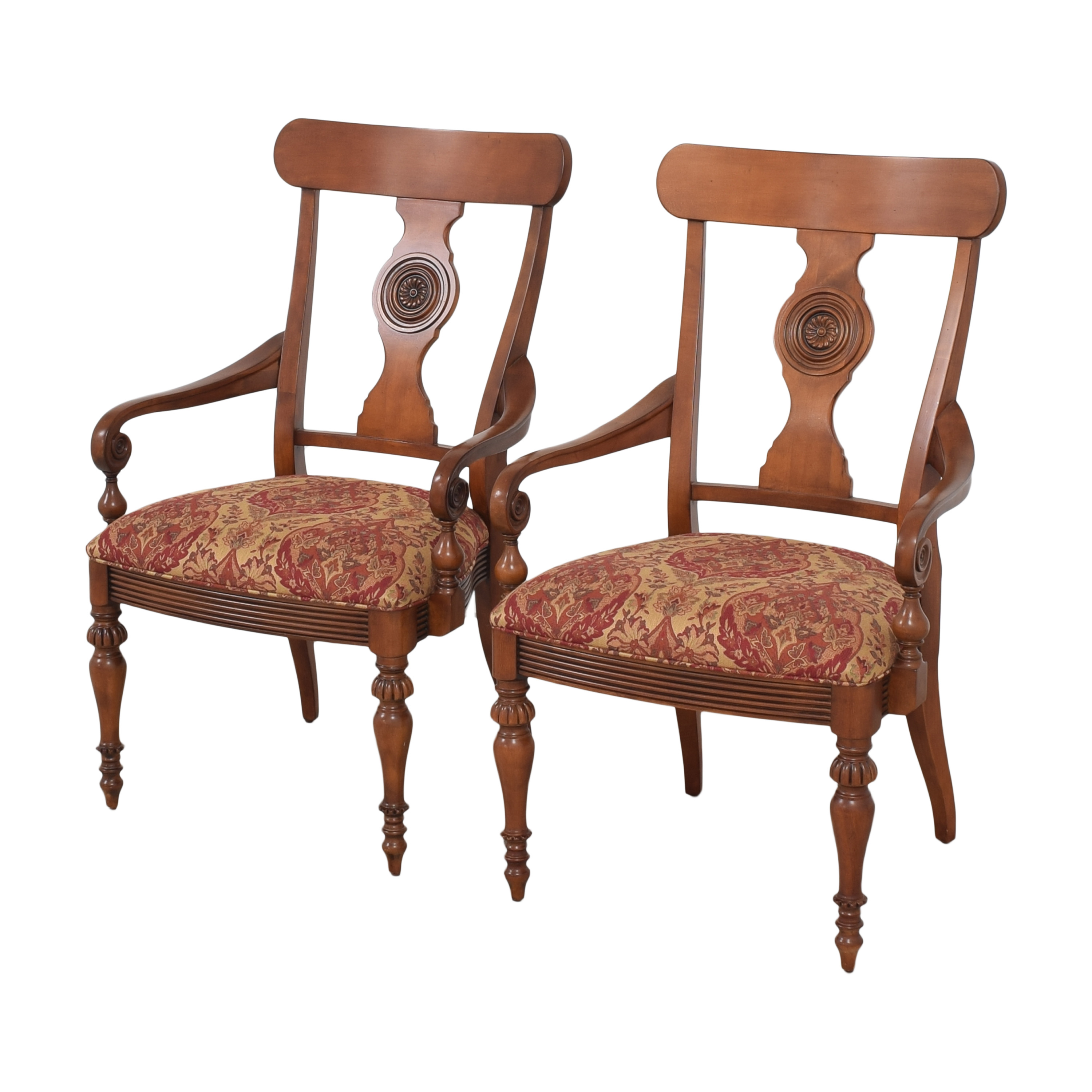 Ethan Allen Ethan Allen British Classics Dining Arm Chairs dimensions