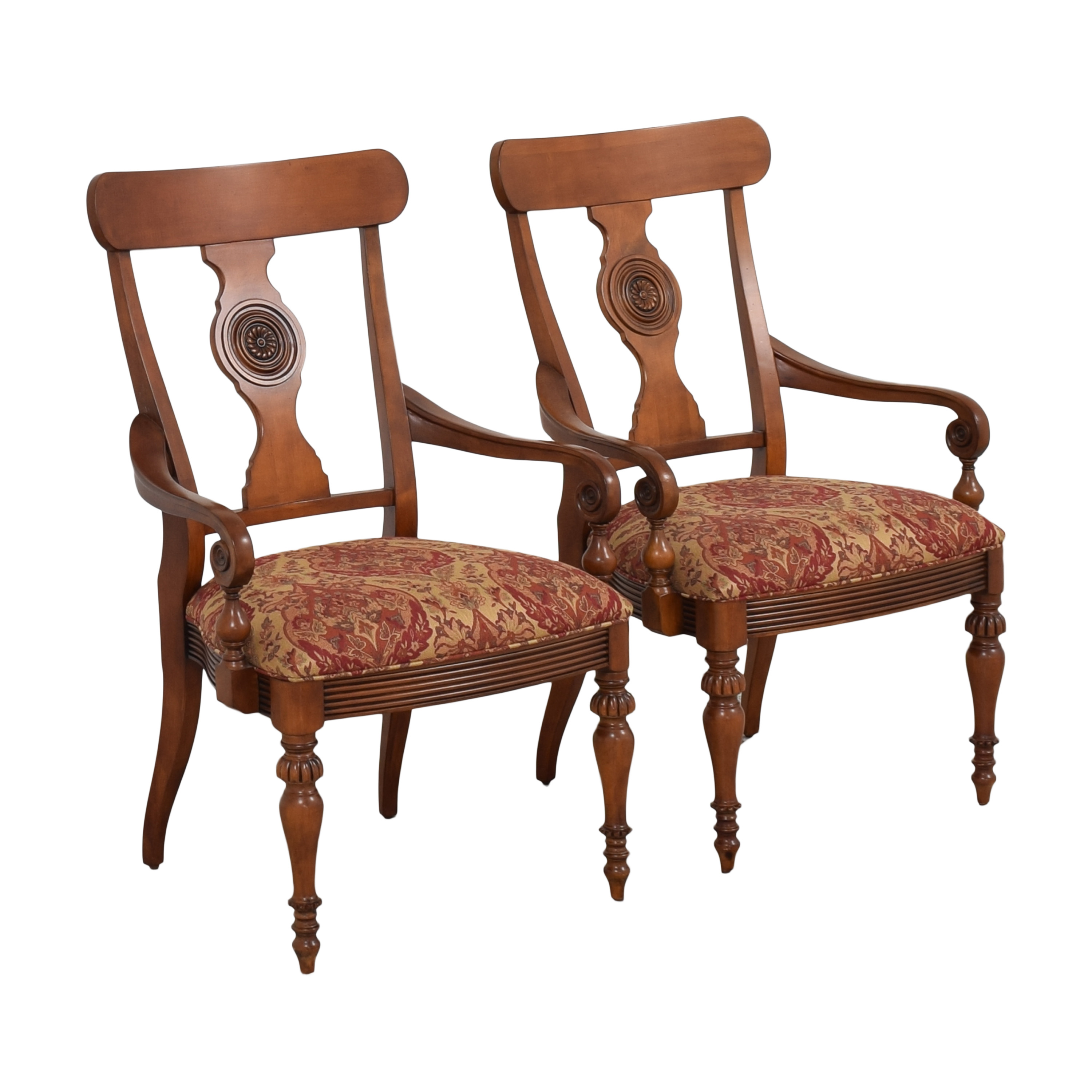 Ethan Allen Ethan Allen British Classics Dining Arm Chairs on sale