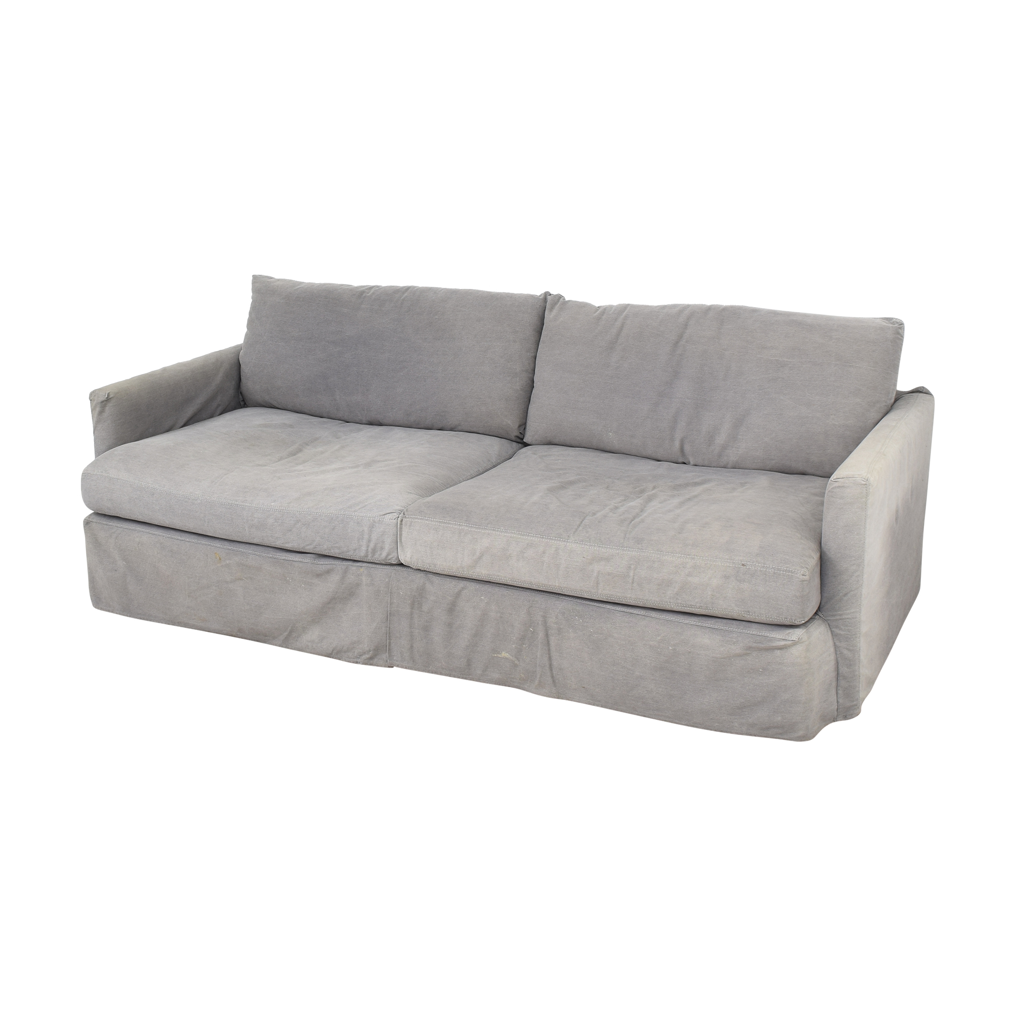 Crate & Barrel Crate & Barrel Lounge II Sofa with Two Ottomans on Casters