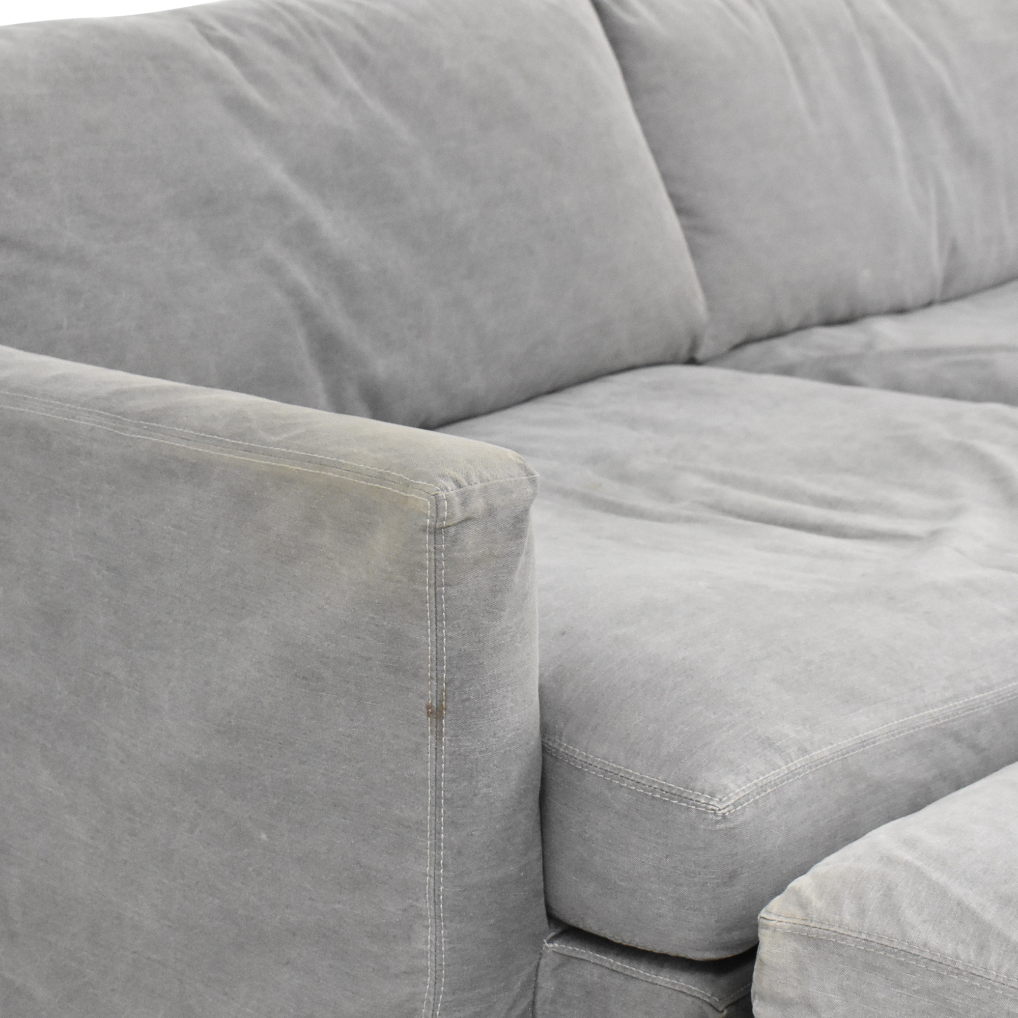 buy Crate & Barrel Lounge II Sofa with Two Ottomans on Casters Crate & Barrel Sofas
