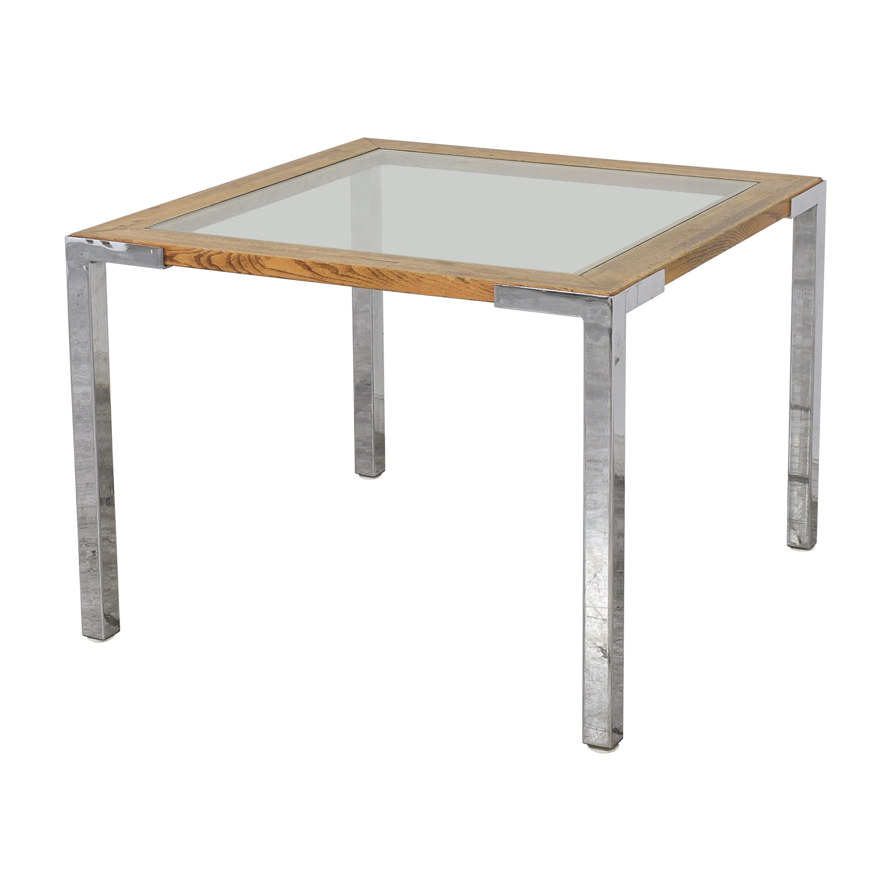 Mid Century Modern Square Dining Table second hand