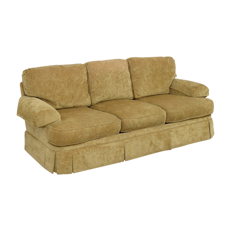 Hickory White Hickory White Skirted Three Cushion Sofa khaki