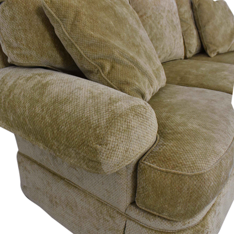 buy Hickory White Skirted Three Cushion Sofa Hickory White Sofas