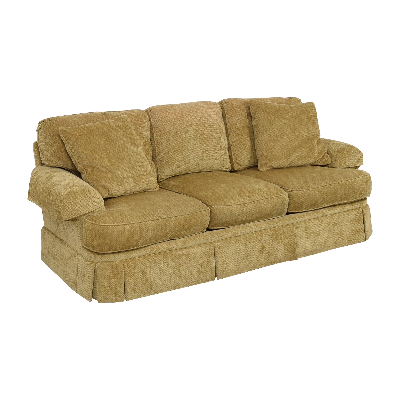 Hickory White Skirted Three Cushion Sofa / Classic Sofas