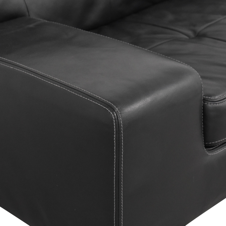 W. Schillig W Schillig Tufted Bench Cushion Sofa on sale