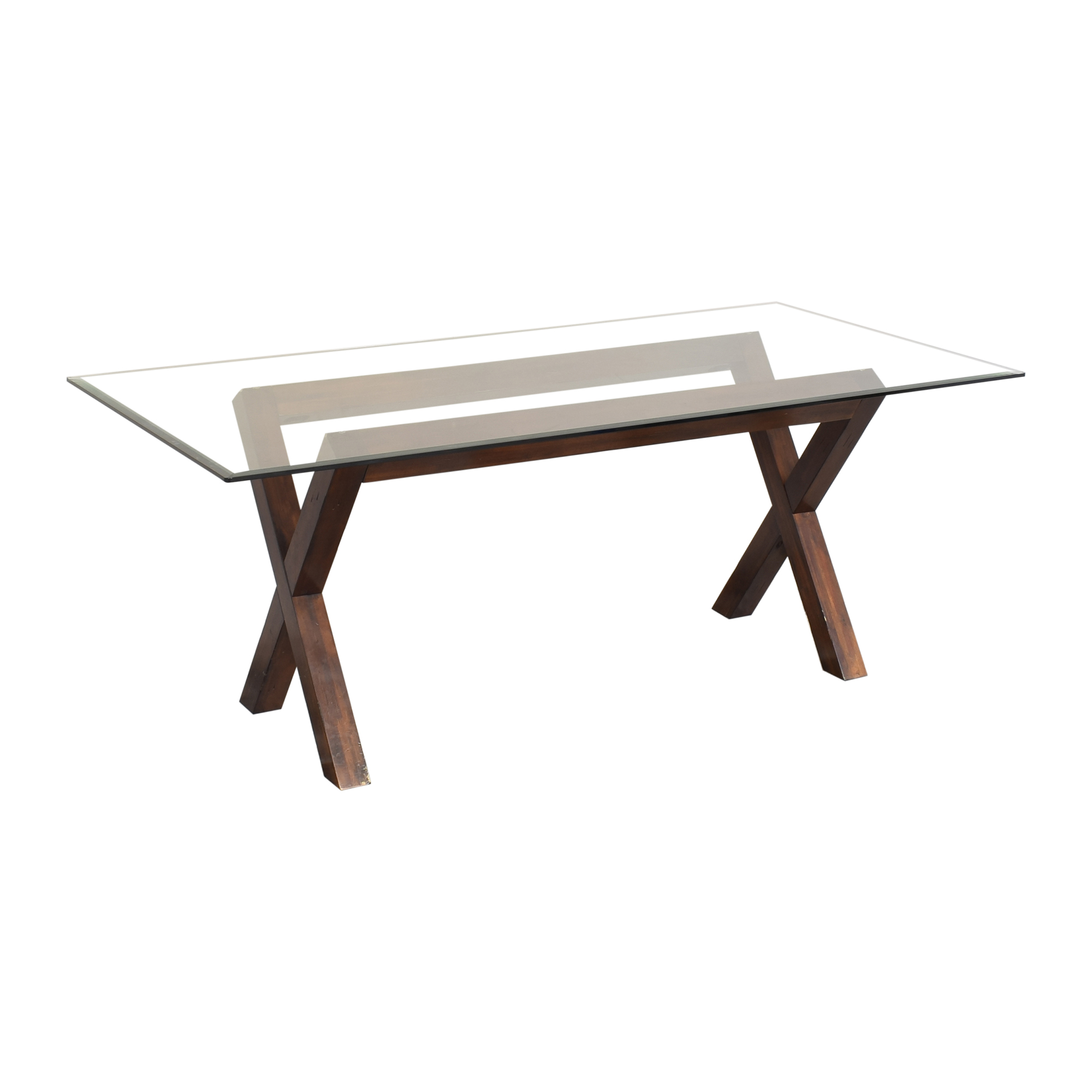 Dining Table with Transparent Surface Dinner Tables